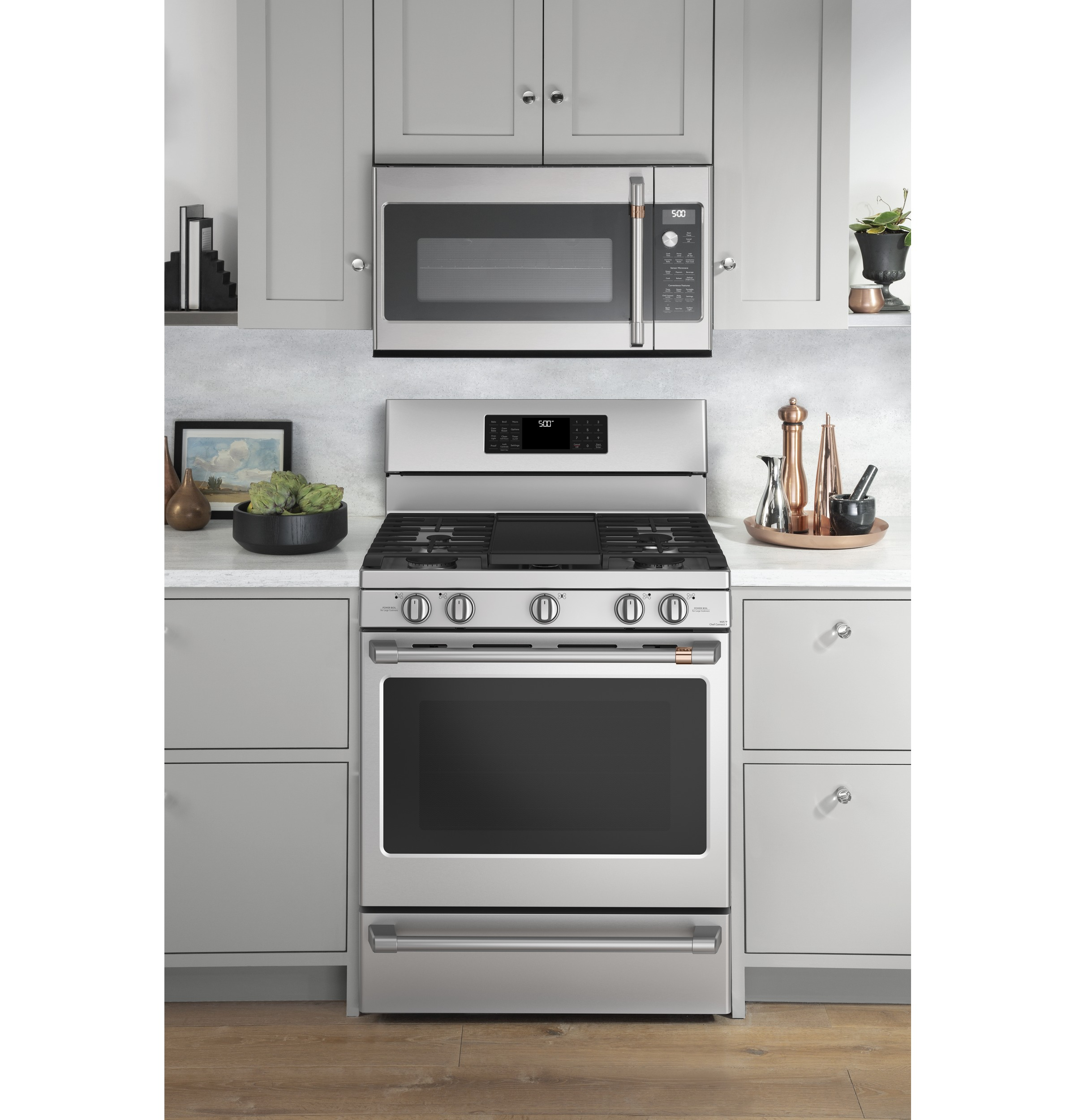 "Model: CGB500P2MS1 | Cafe Café™ 30"" Smart Free-Standing Gas Range with Convection"