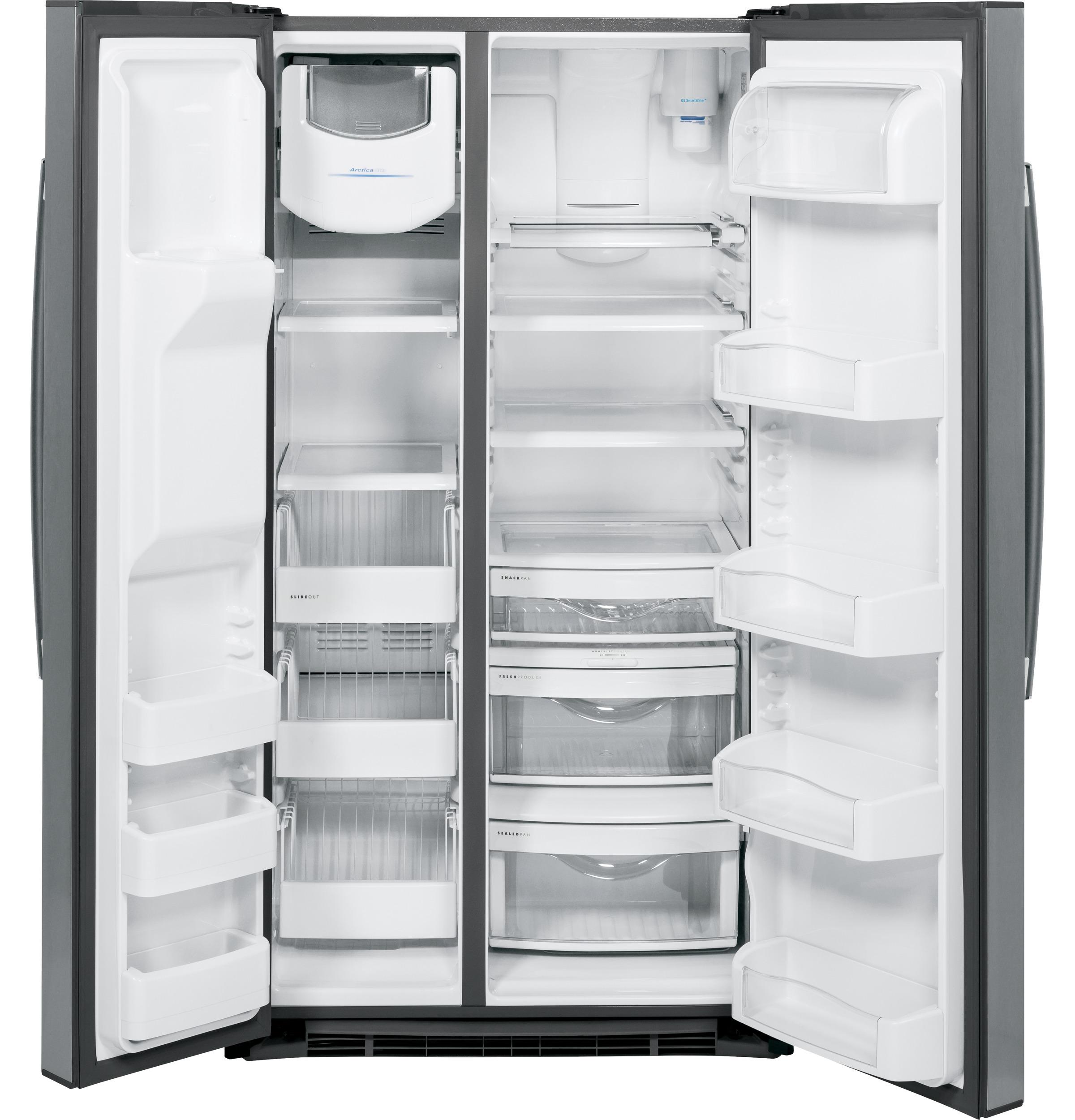Model: PSE25KSHSS | GE Profile™ Series ENERGY STAR® 25.3 Cu. Ft. Side-by-Side Refrigerator