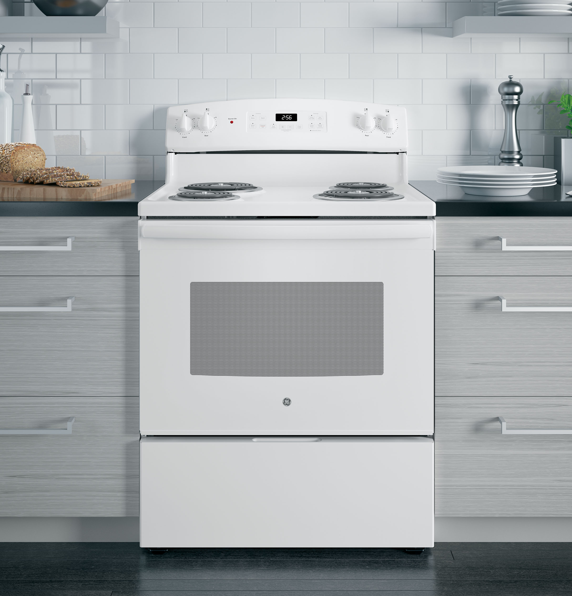 "Model: JB256DMWW | GE GE® 30"" Free-Standing Electric Range"