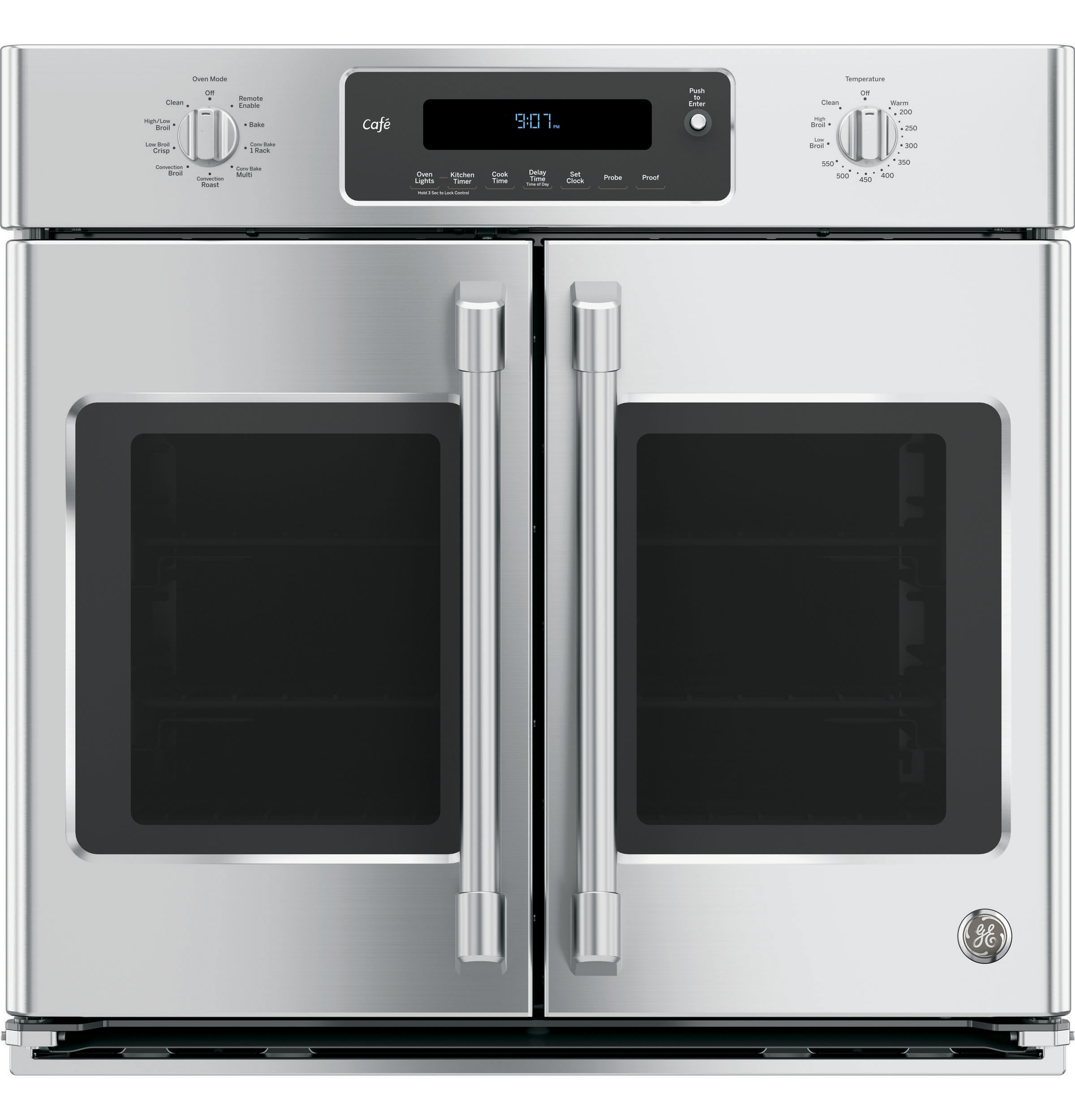 "GE Cafe GE Café™ Series 30"" Built-In French-Door Single Convection Wall Oven"
