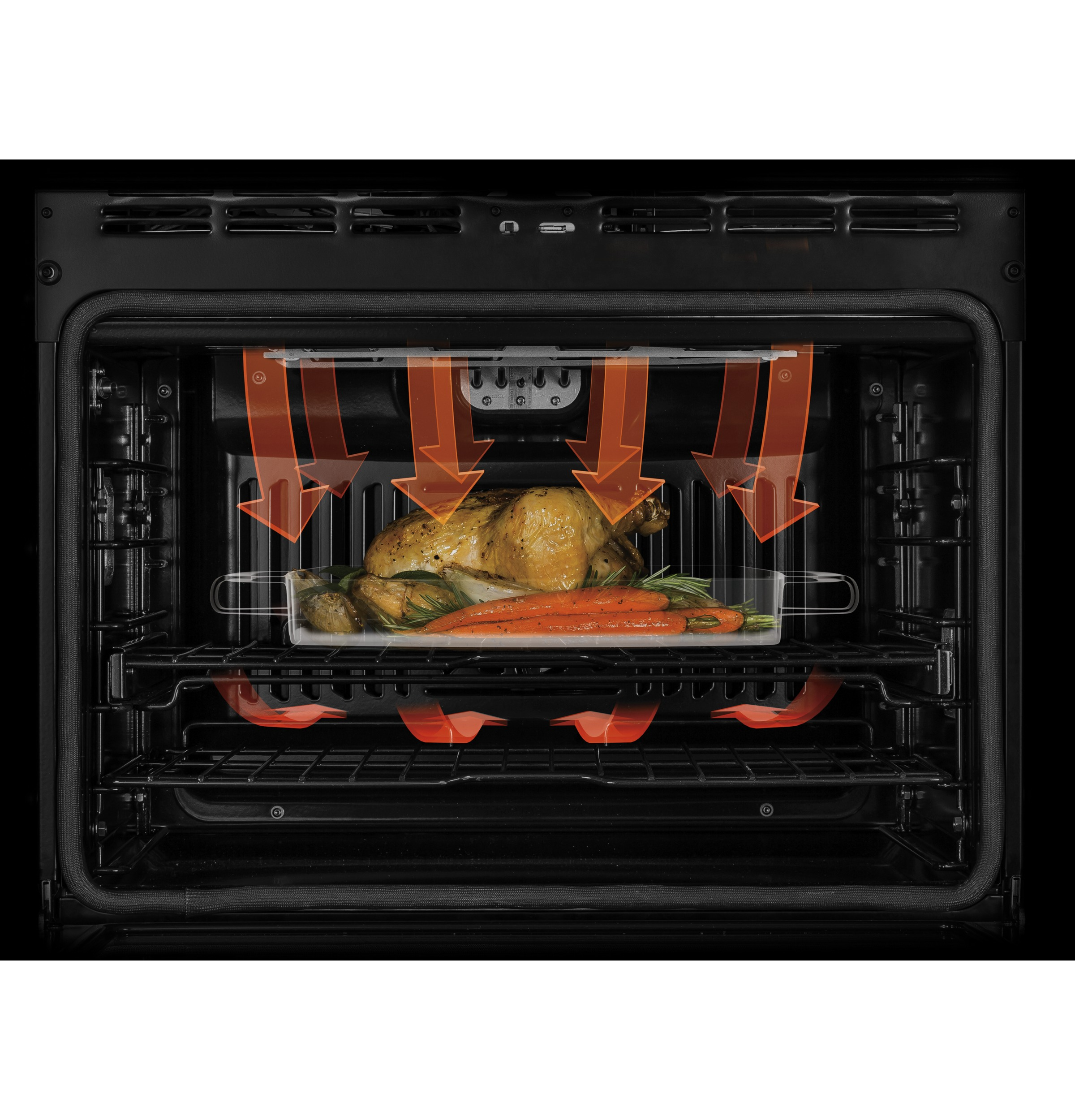 "Model: CT9070SHSS | GE Cafe GE Café™ Series 30"" Built-In French-Door Single Convection Wall Oven"