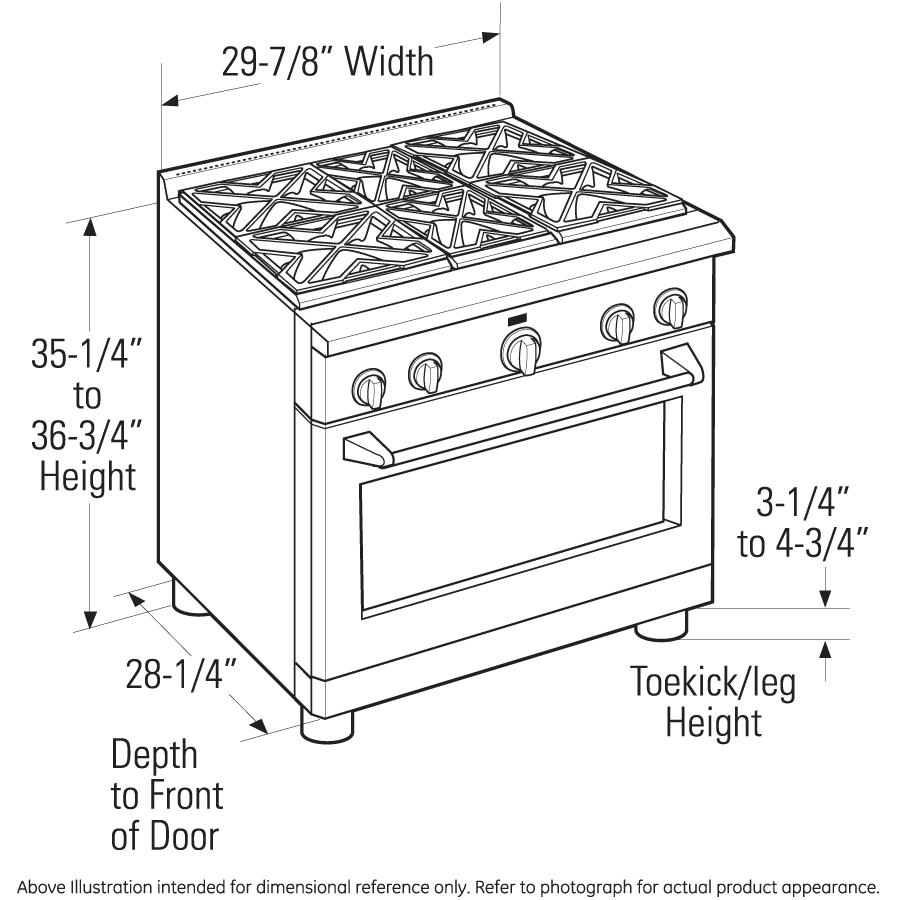 "Model: ZGP304NRSS | Monogram Monogram 30"" All Gas Professional Range with 4 Burners (Natural Gas)"