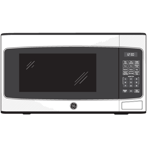 Model: JES1145DMBB | GE® 1.1 Cu. Ft. Capacity Countertop Microwave Oven