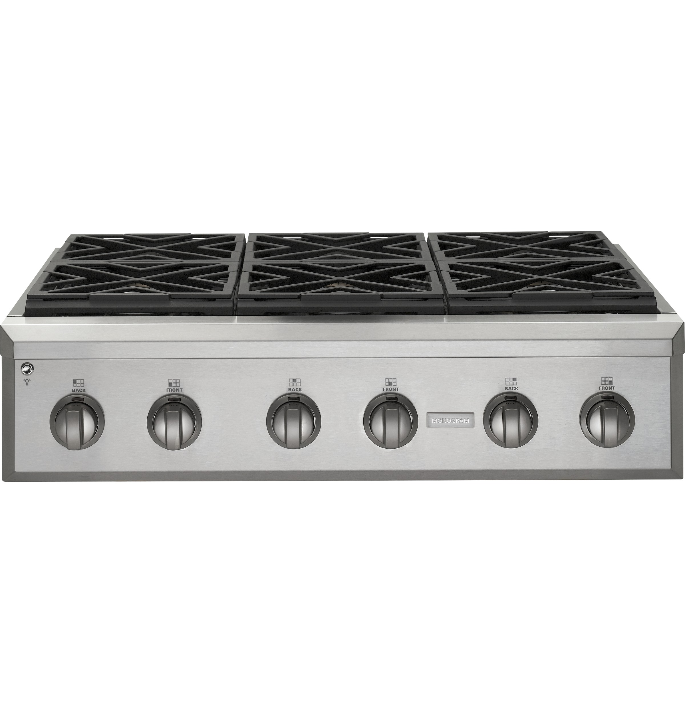 "Model: ZGU366NPSS | Monogram Monogram 36"" Professional Gas Rangetop with 6 Burners (Natural Gas)"