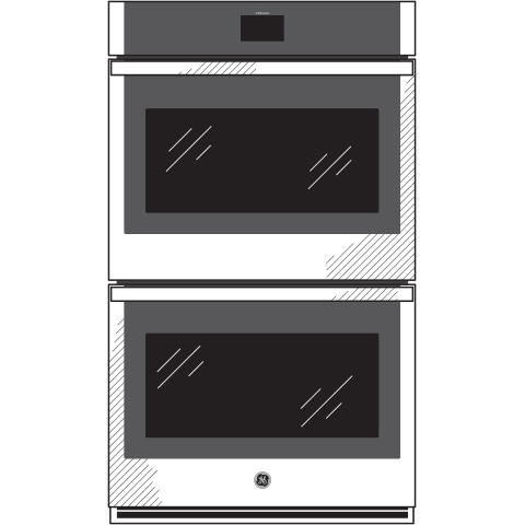 "Model: JKD5000DNBB | GE GE® 27"" Smart Built-In Convection Double Wall Oven"