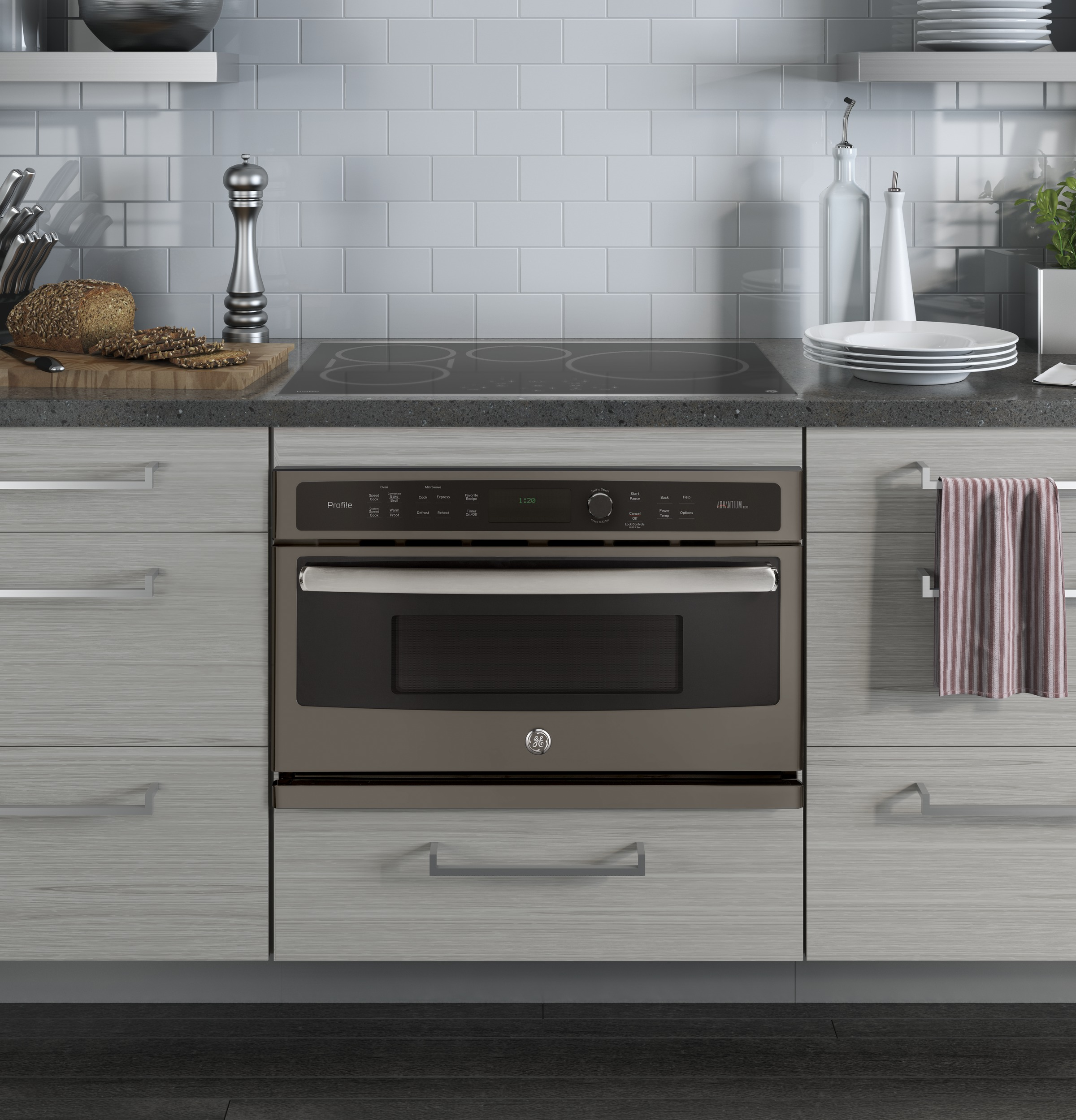 Model: PSB9120EFES   GE Profile™ Series 30 in. Single Wall Oven with Advantium® Technology