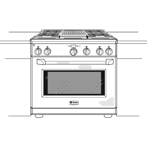 "Model: ZDP364NRPSS | Monogram Monogram 36"" Dual-Fuel Professional Range with 4 Burners and Grill (Natural Gas)"
