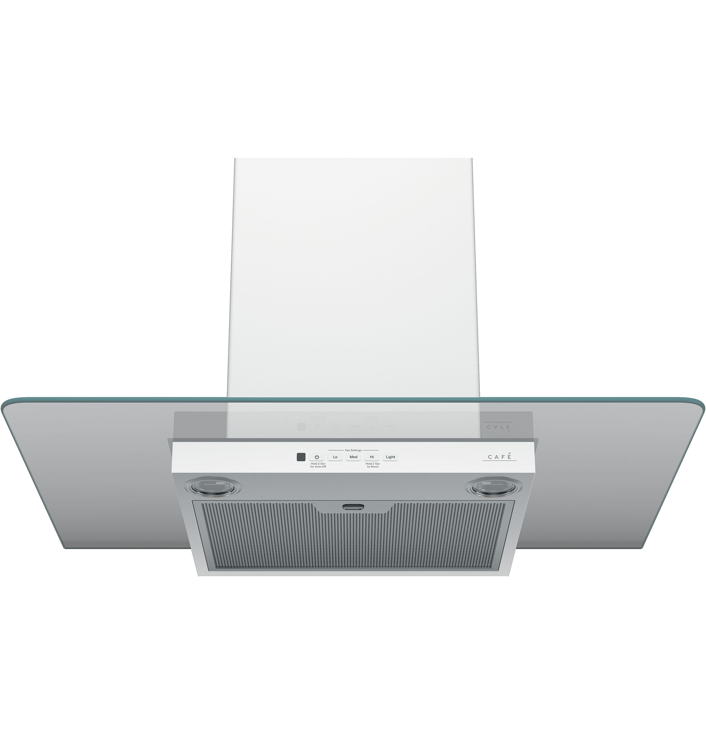 "Model: CVW73014MWM | Cafe Café™ 30"" Wall-Mount Glass Canopy Chimney Hood"