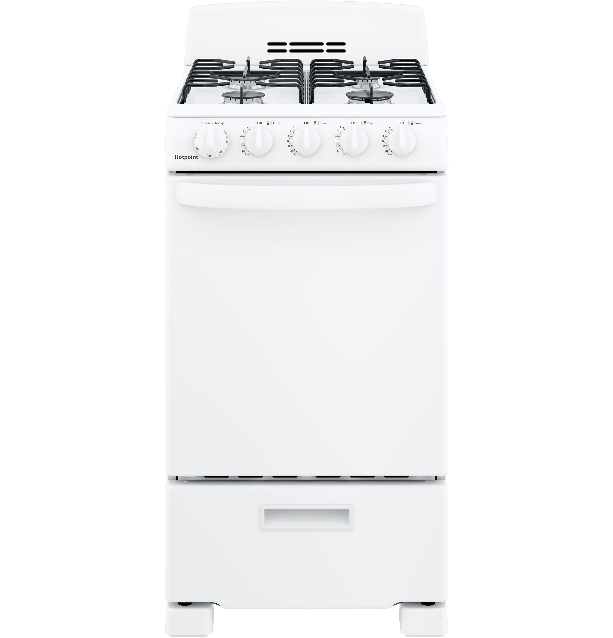 "Hotpoint Hotpoint® 20"" Front-Control Free-Standing Gas Range with Sealed Burners"