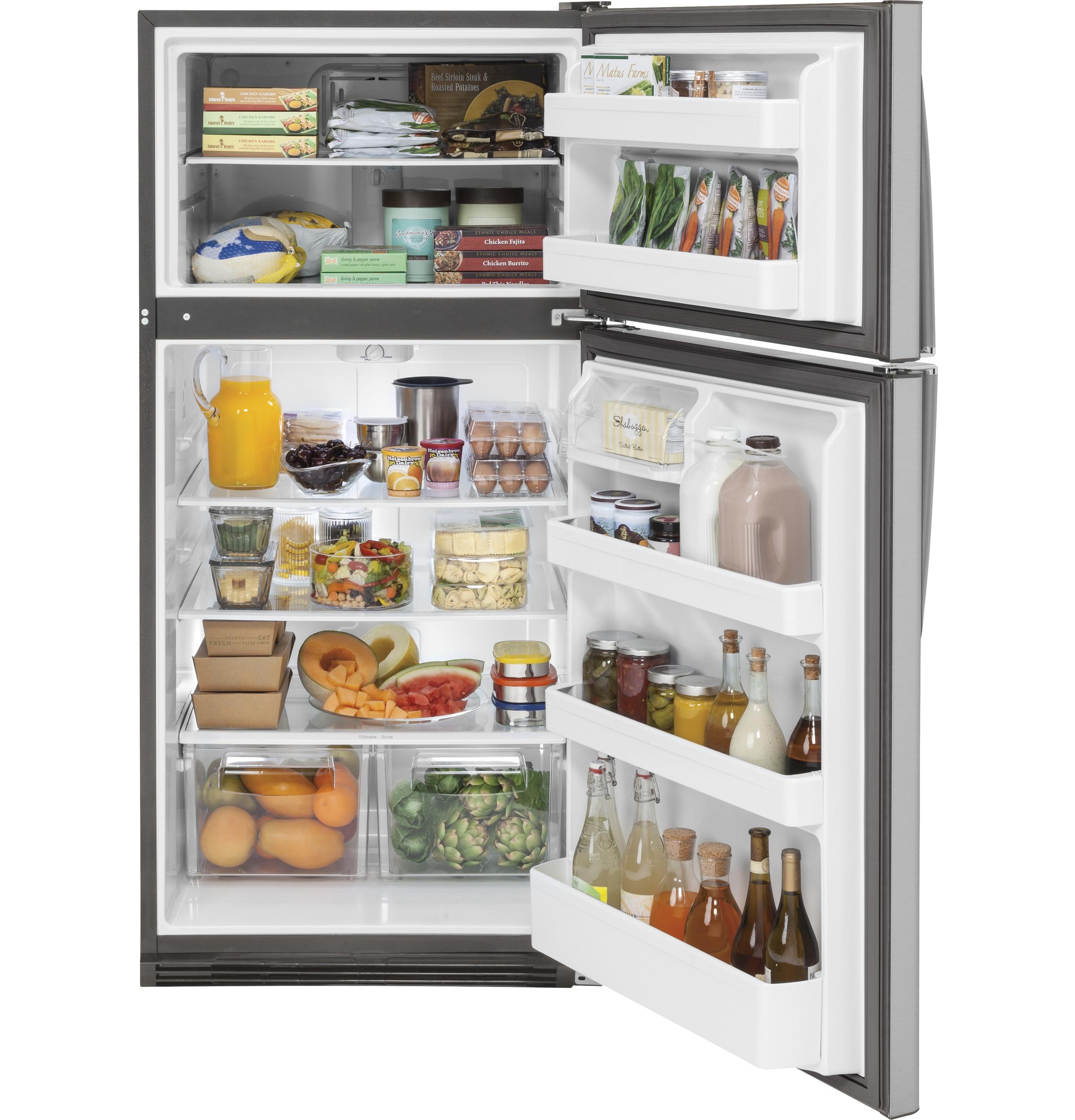 Model: GTS21FSKSS | GE GE® 20.8 Cu. Ft. Top-Freezer Refrigerator