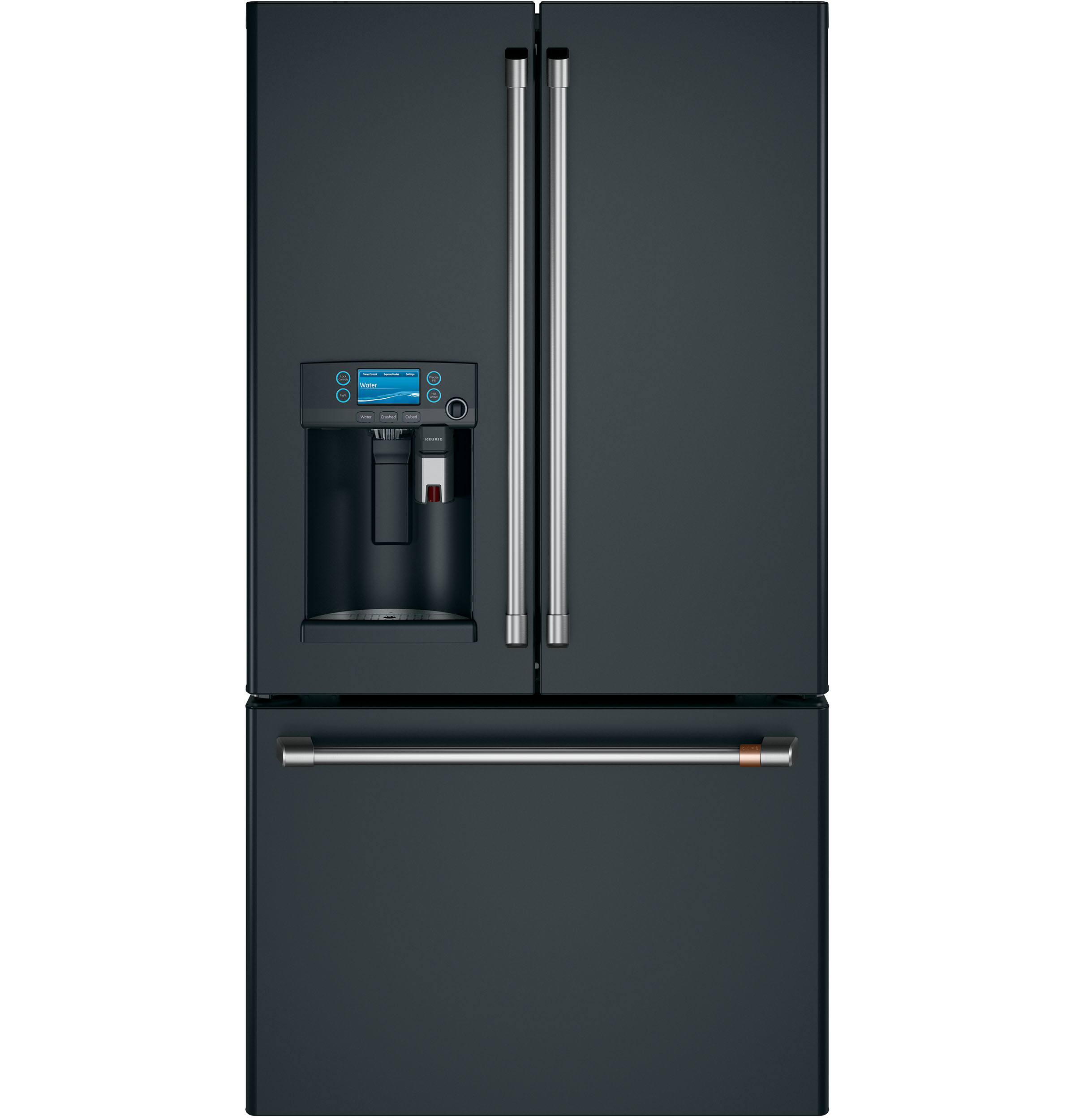 Cafe Café™ ENERGY STAR® 22.2 Cu. Ft. Counter-Depth French-Door Refrigerator with Keurig® K-Cup® Brewing System