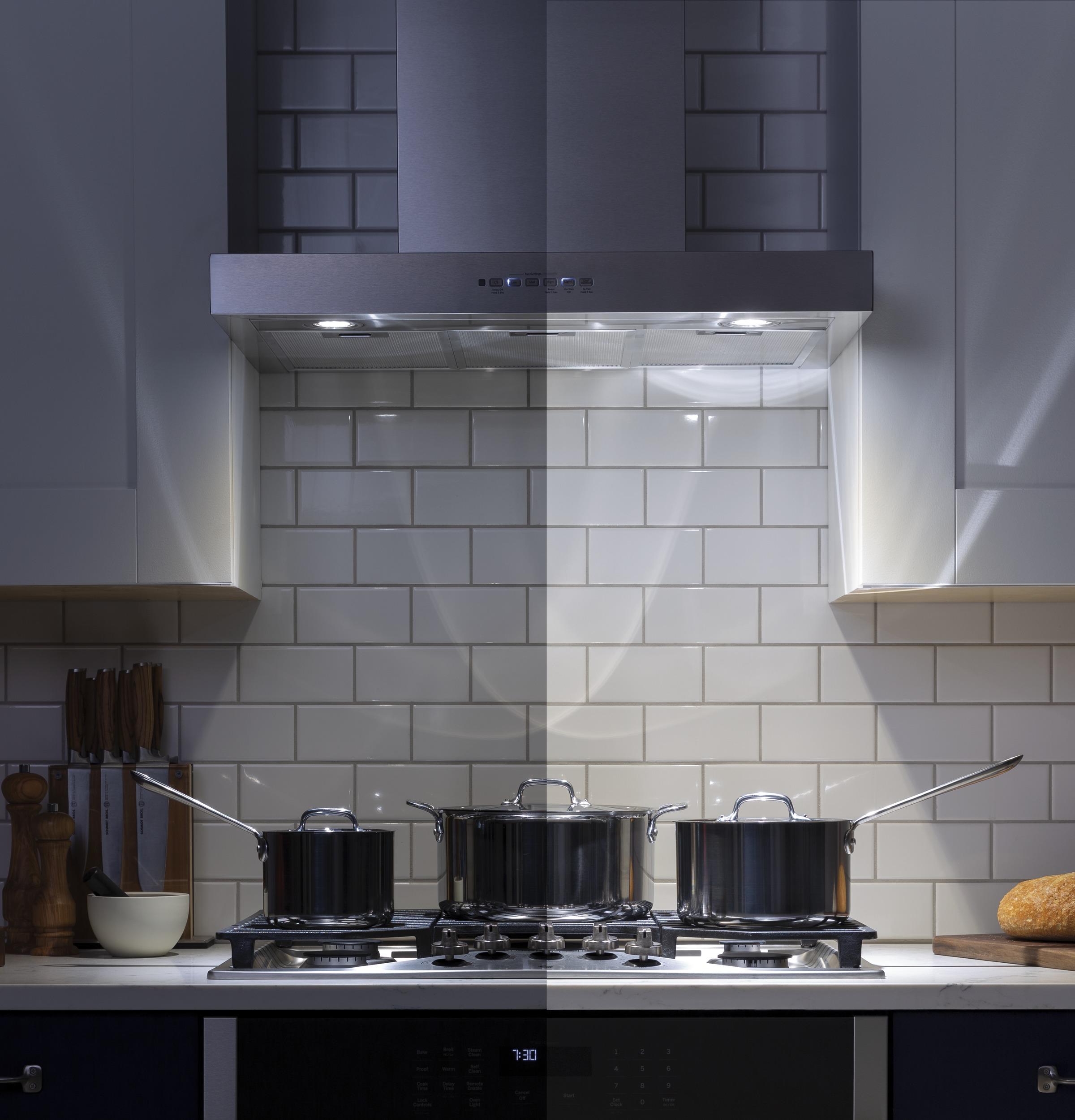 "Model: UVW8361SLSS | Profile 36"" Designer Wall Mount Hood w/ Dimmable LED Lighting"