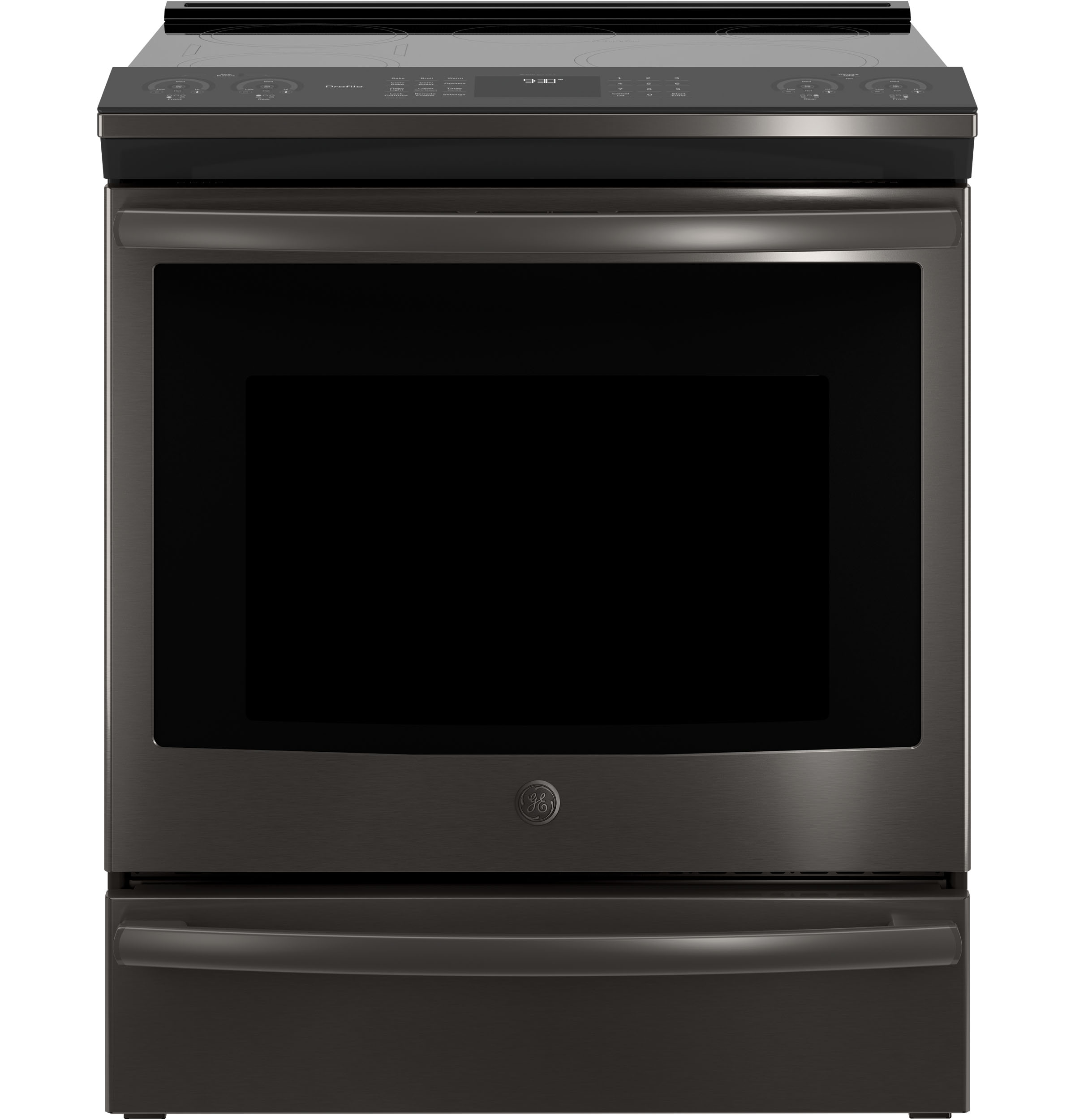 """Profile GE Profile™ 30"""" Slide-In Front-Control Induction and Convection Range"""