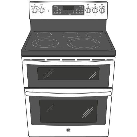 "Model: JB860BJTS | GE GE® 30"" Free-Standing Electric Double Oven Convection Range"