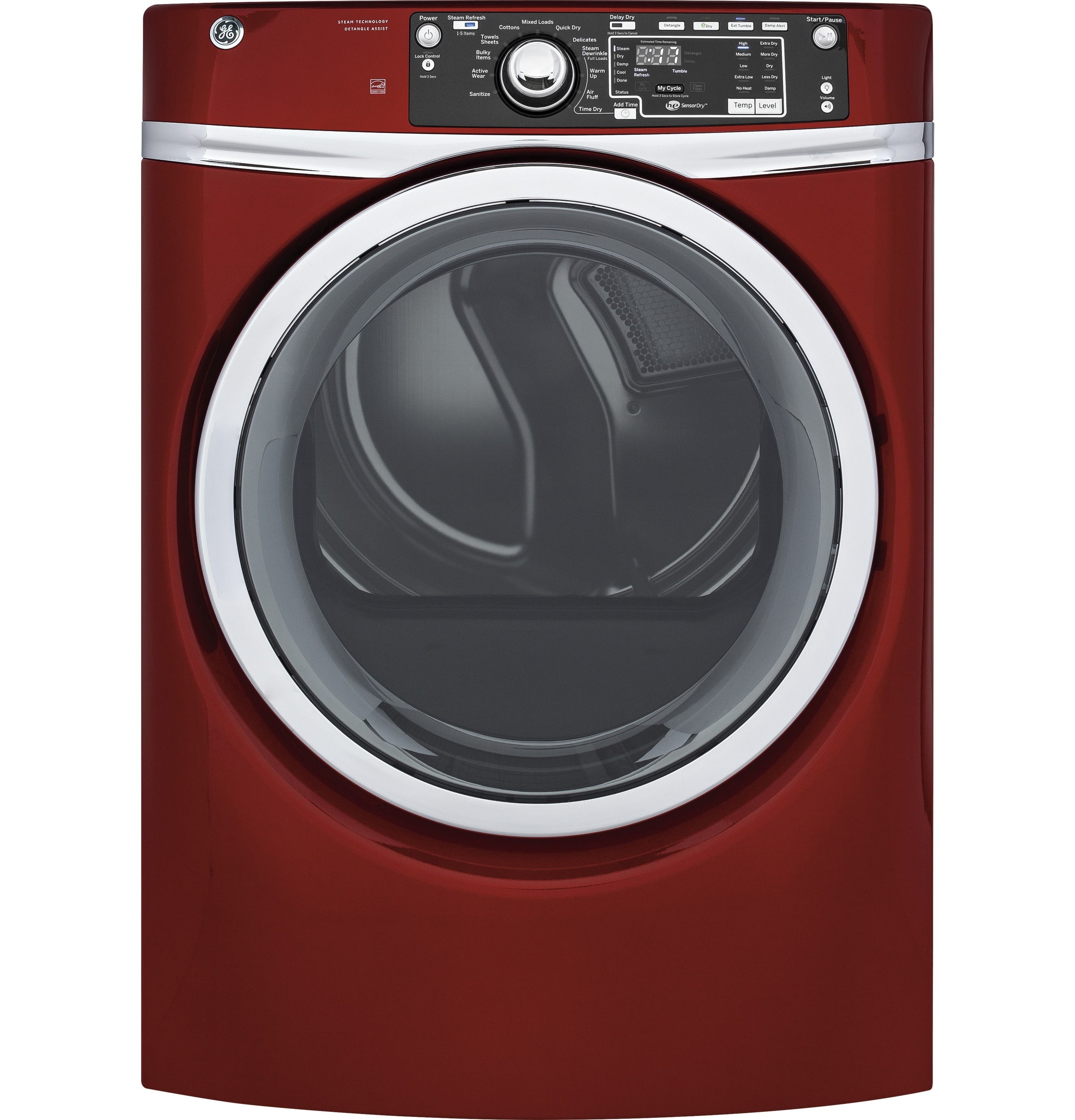 GE GE® 8.3 cu. ft. Capacity Front Load Electric ENERGY STAR® Dryer with Steam
