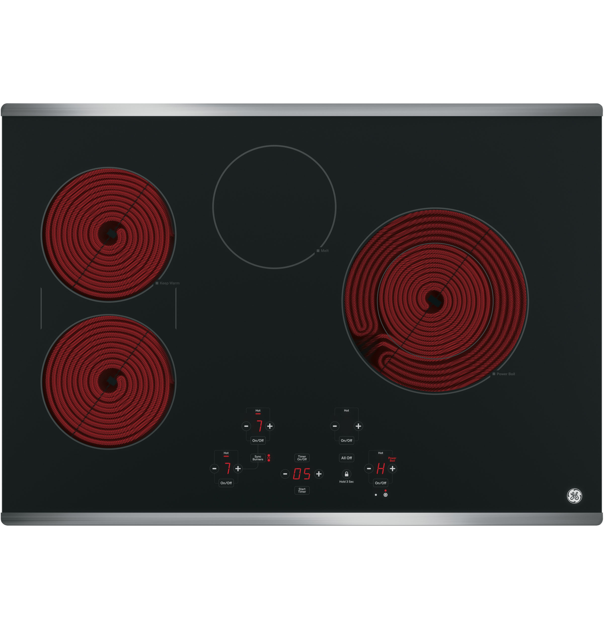 "Model: JP5030SJSS | GE GE® 30"" Built-In Touch Control Electric Cooktop"