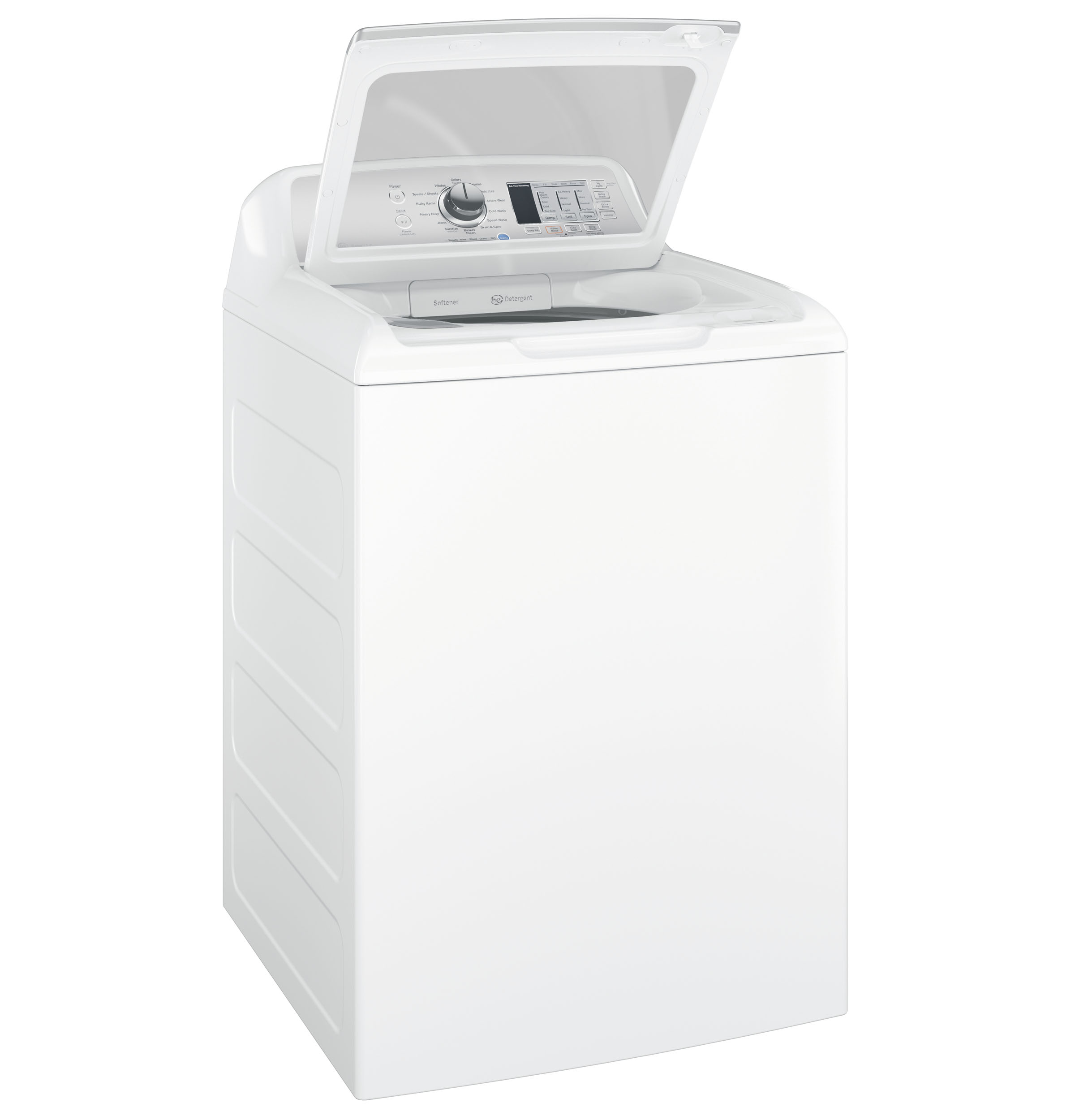 Model: GTW685BSLWS | GE® 4.5  cu. ft. Capacity Washer with Stainless Steel Basket