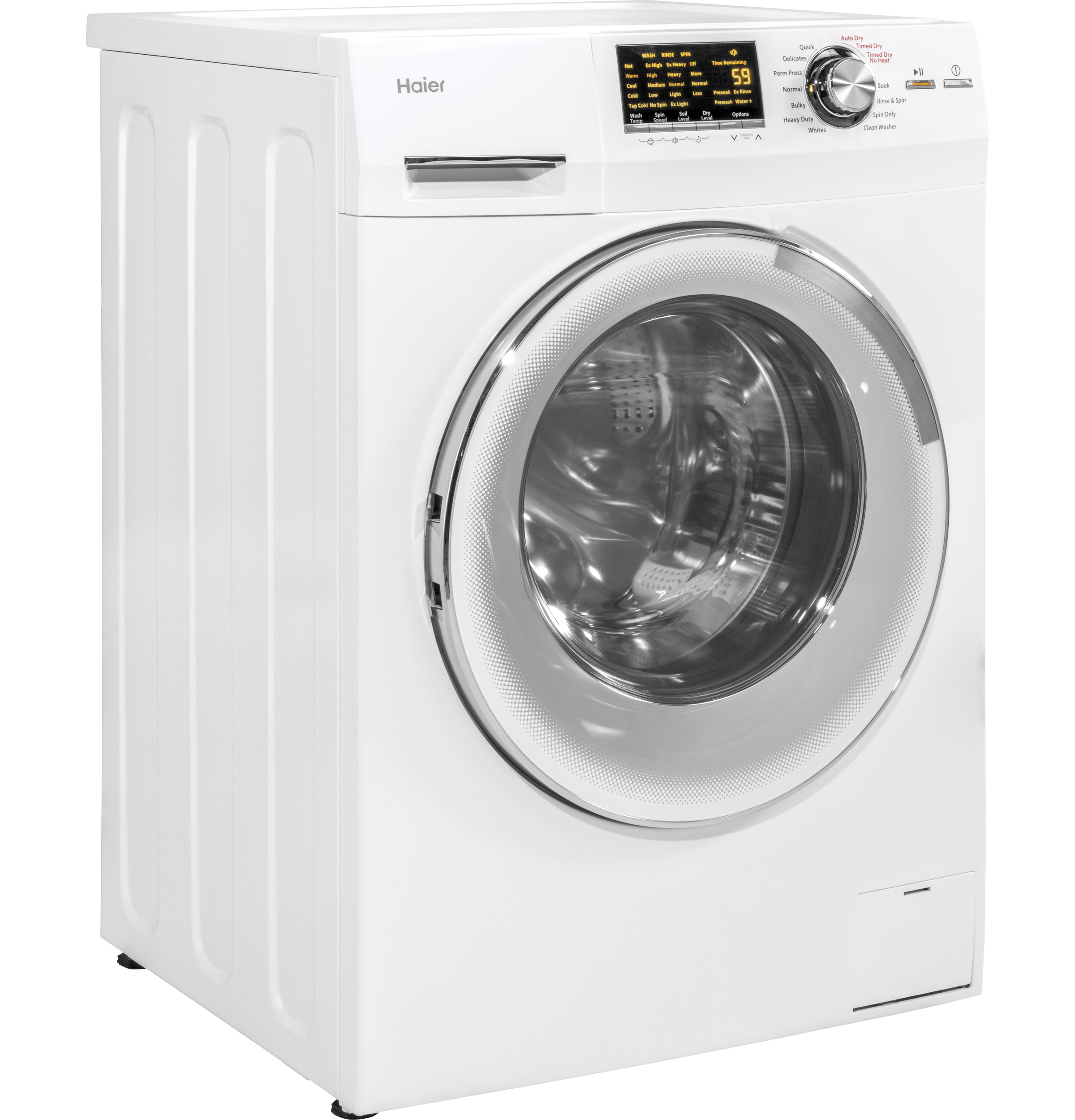 "Model: HLC1700AXW | Haier 24"" 2.0 cu. ft. Front Load Washer/Dryer Combo"