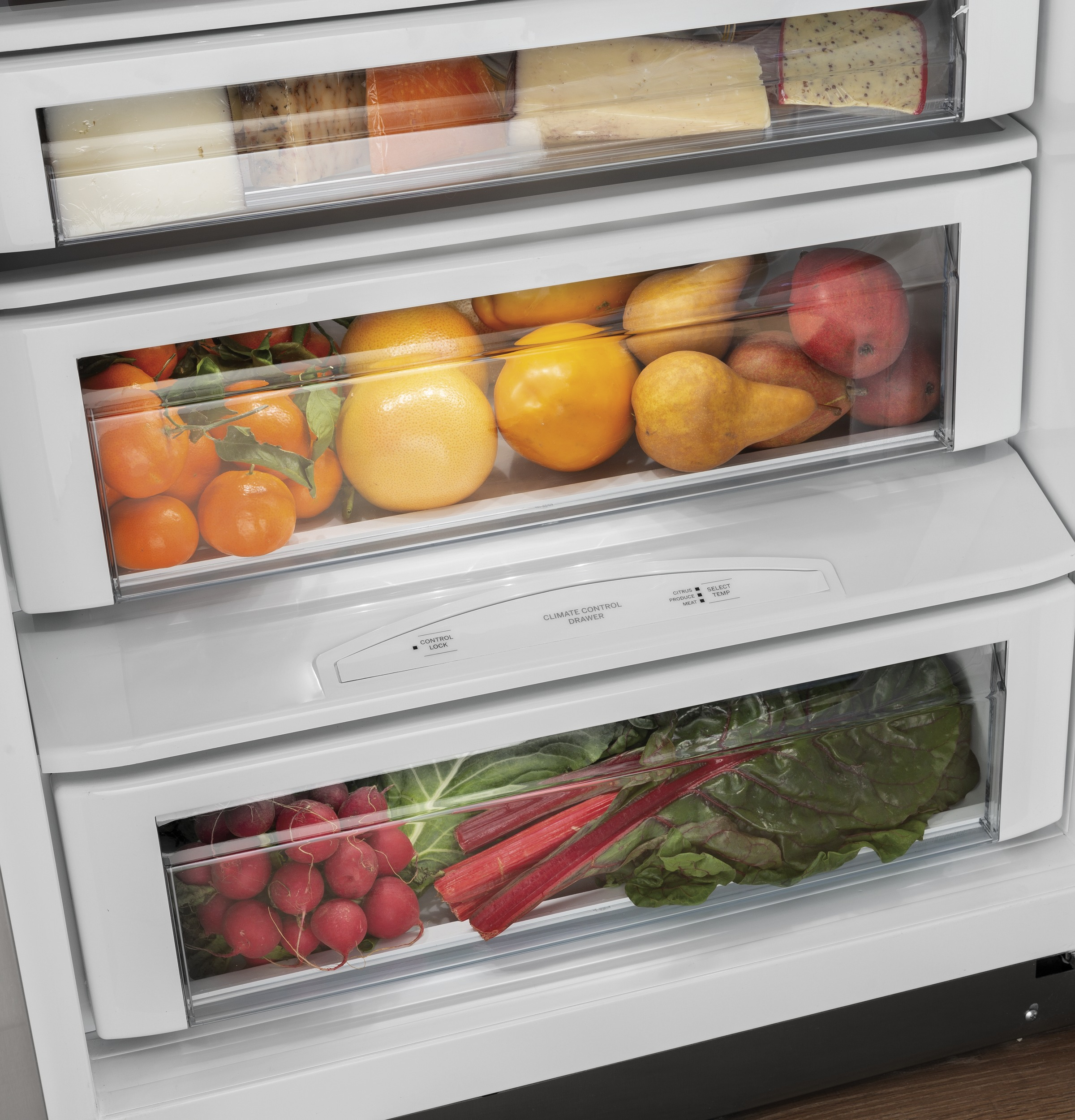 "Model: CSB48WP2NS1 | Cafe Café™ 48"" Smart Built-In Side-by-Side Refrigerator"