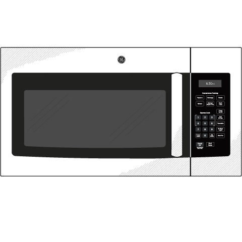 Model: JVM3160RFSS | GE GE® 1.6 Cu. Ft. Over-the-Range Microwave Oven