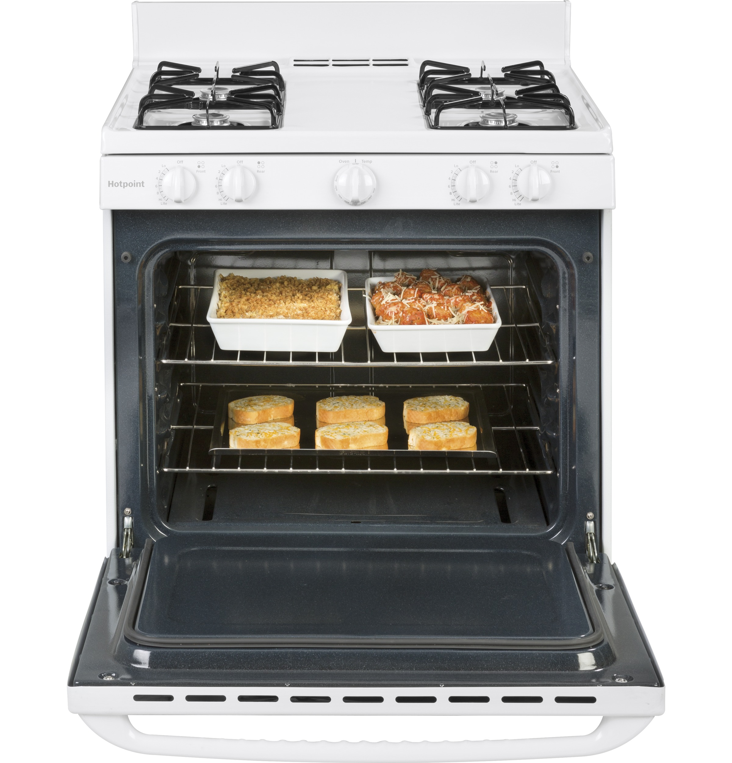 "Model: RGBS100DMWW | Hotpoint Hotpoint® 30"" Free-Standing Gas Range"