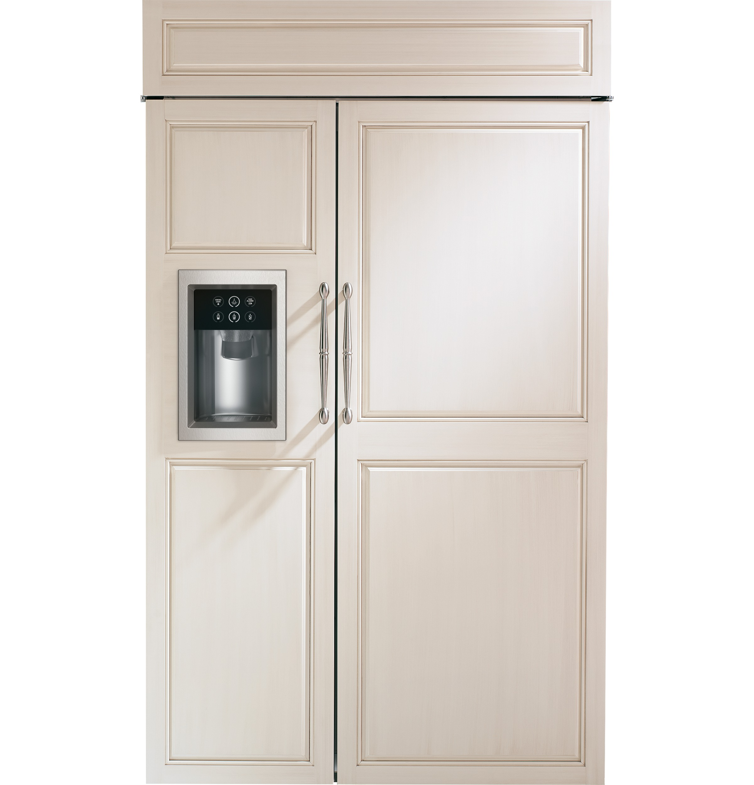 "Monogram Monogram 48"" Smart Built-In Side-by-Side Refrigerator with Dispenser"
