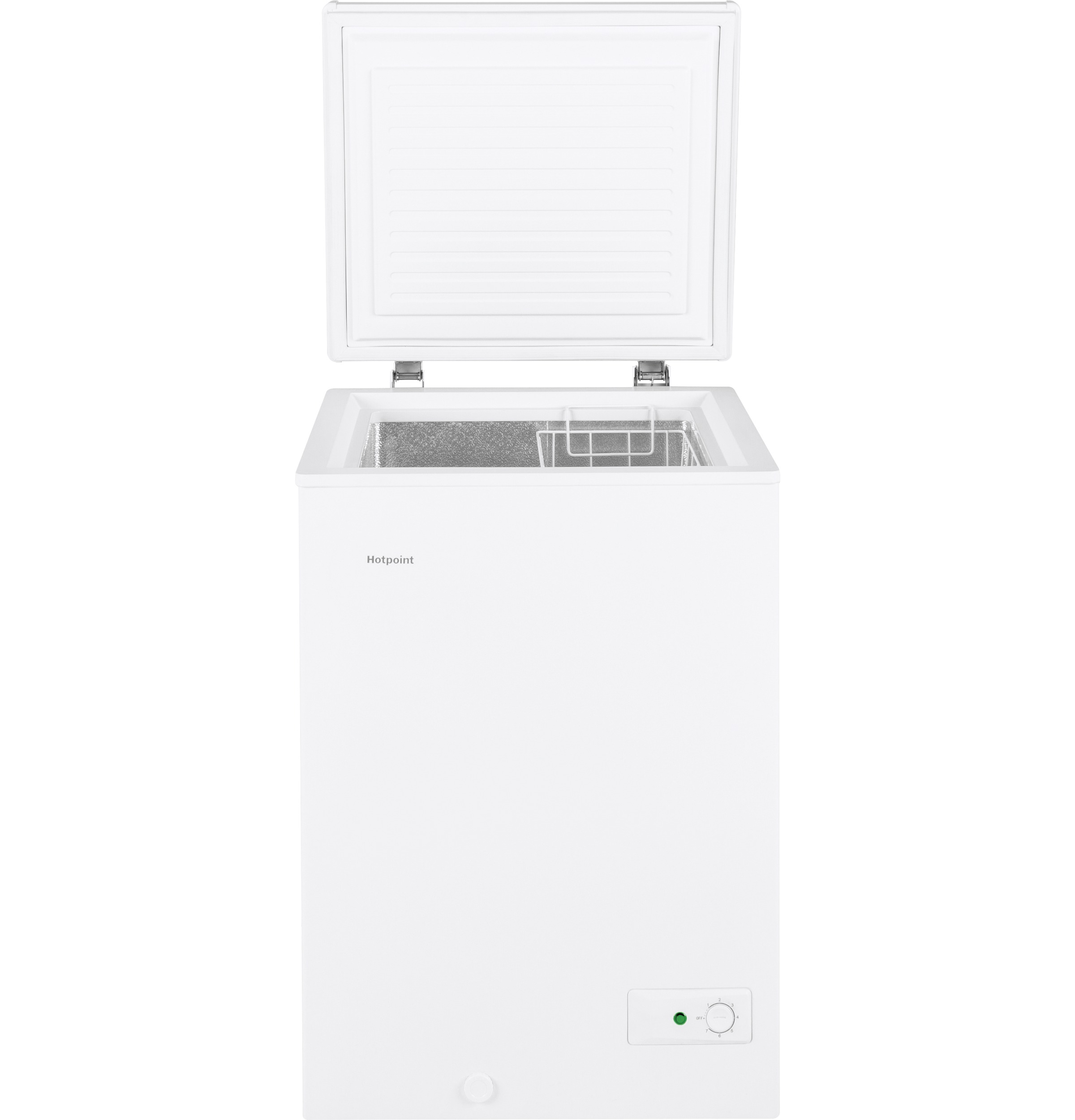 Model: HCM4SMWW | Hotpoint Hotpoint® 3.6 Cu. Ft. Manual Defrost Chest Freezer