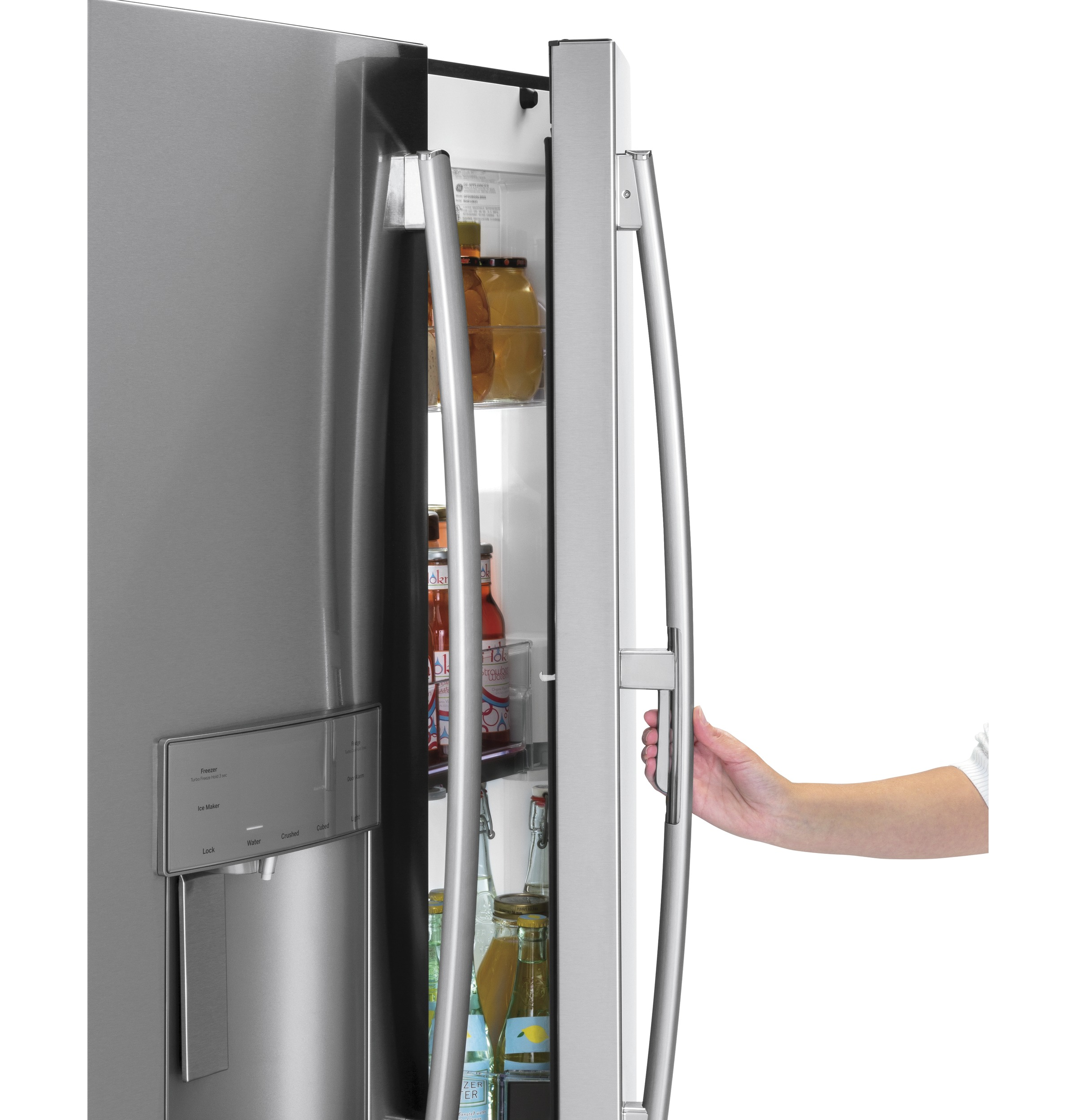 Model: GFD28GSLSS | GE GE® 27.8 Cu. Ft. French-Door Refrigerator with Door In Door