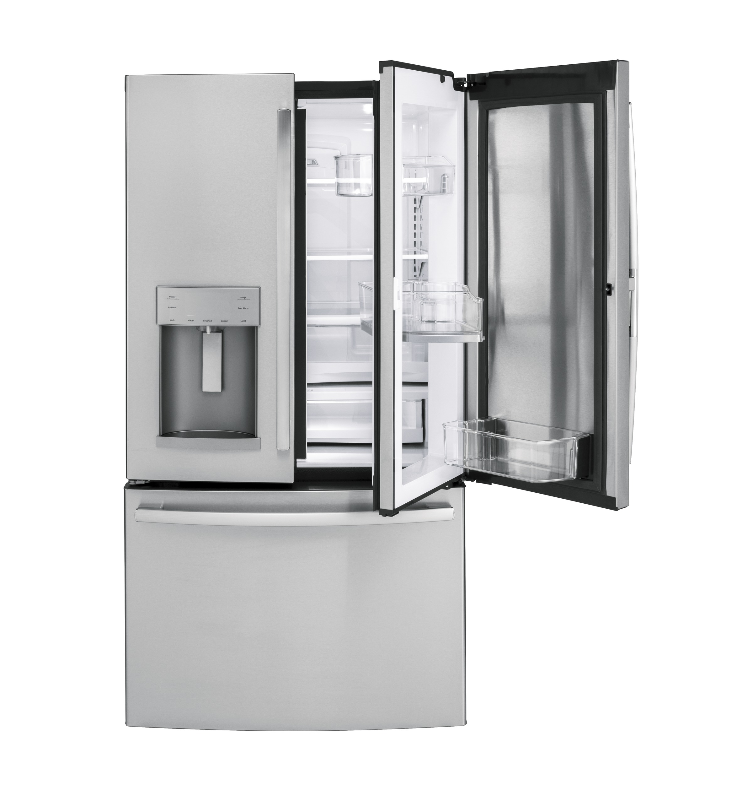 Model: GFD28GSLSS | GE® 27.8 Cu. Ft. French-Door Refrigerator with Door In Door