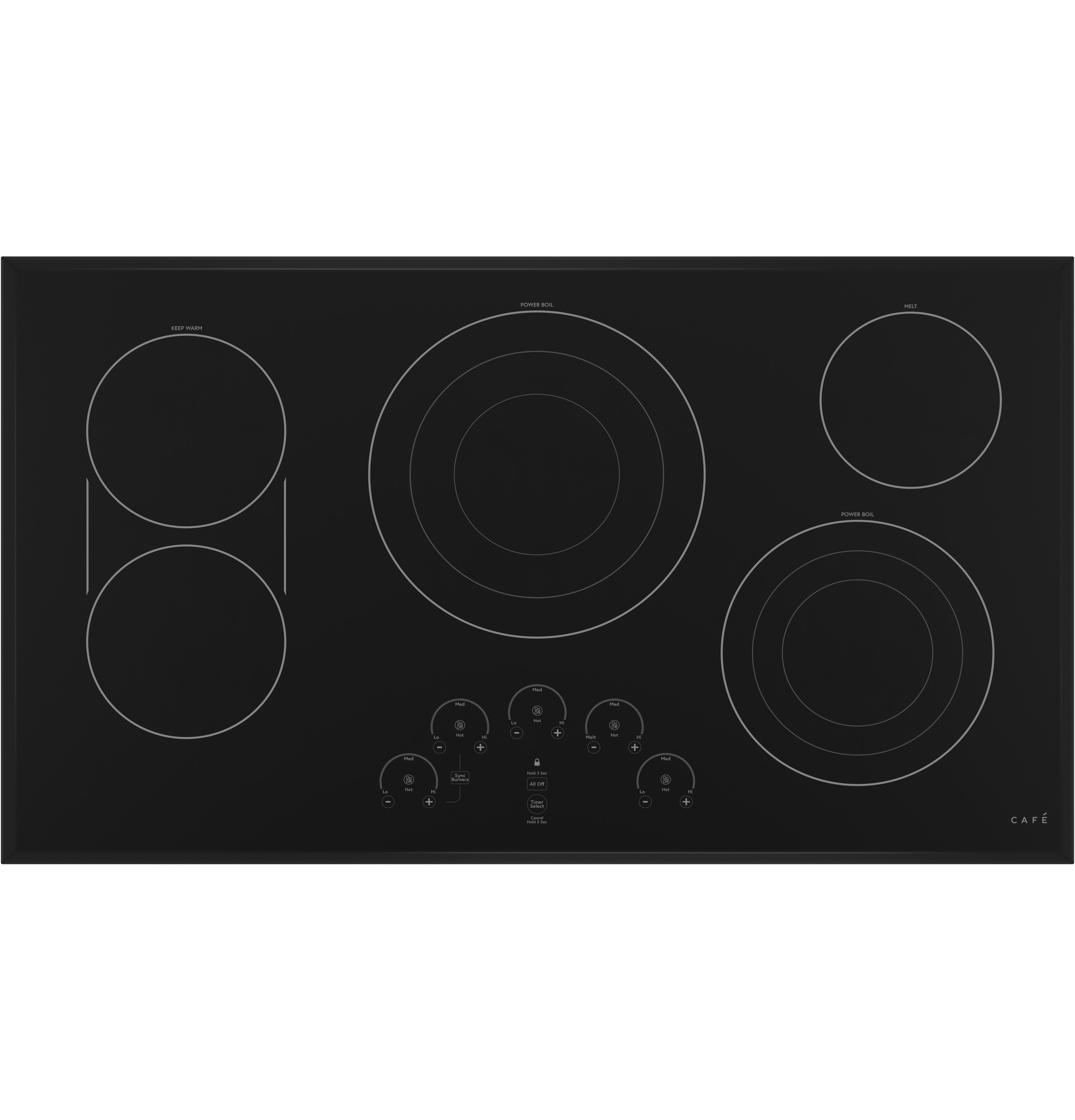 "Cafe Café™ 36"" Touch-Control Electric Cooktop"