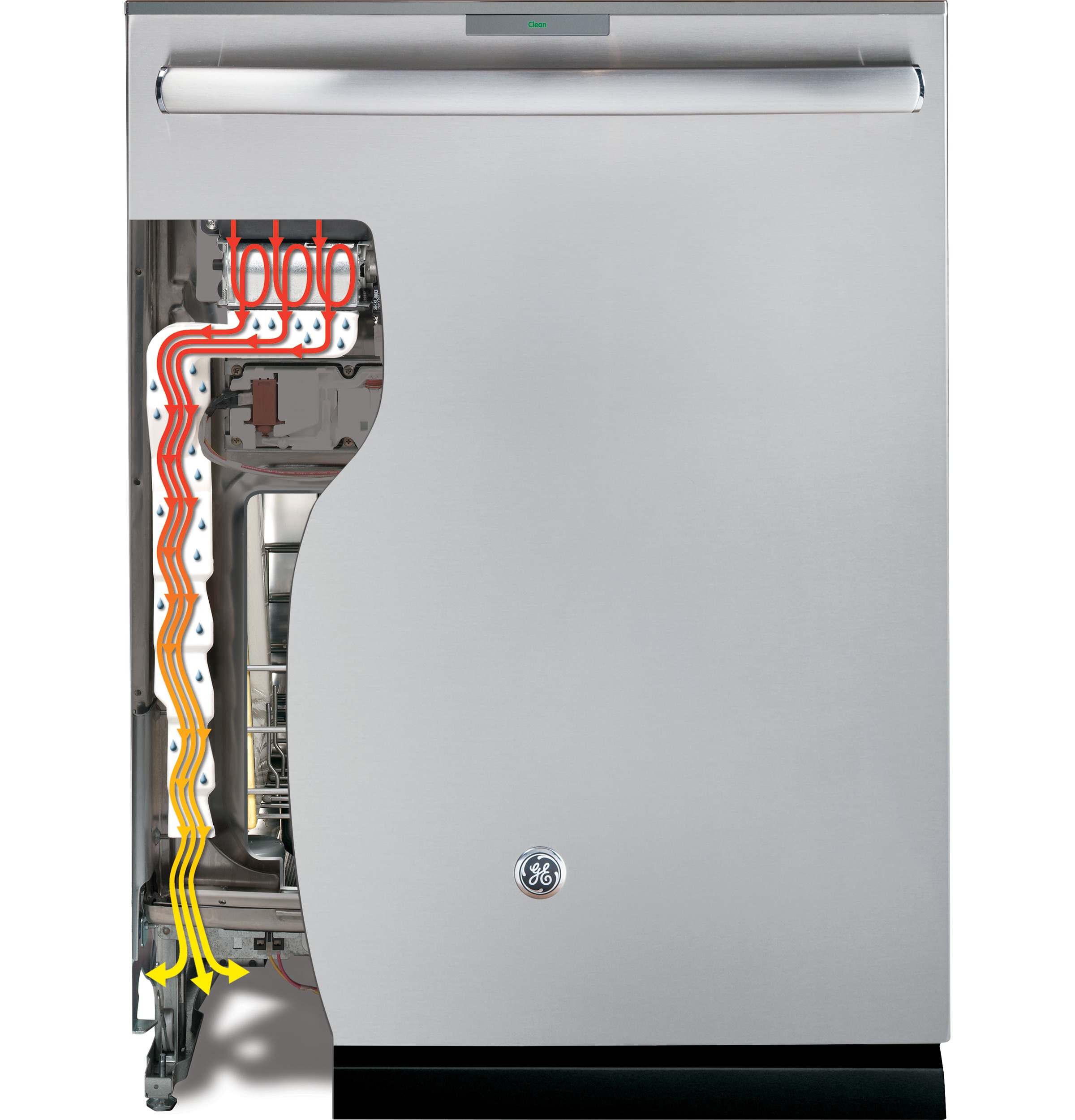 Model: GDT655SFLDS | GE® Stainless Steel Interior Dishwasher with Hidden Controls