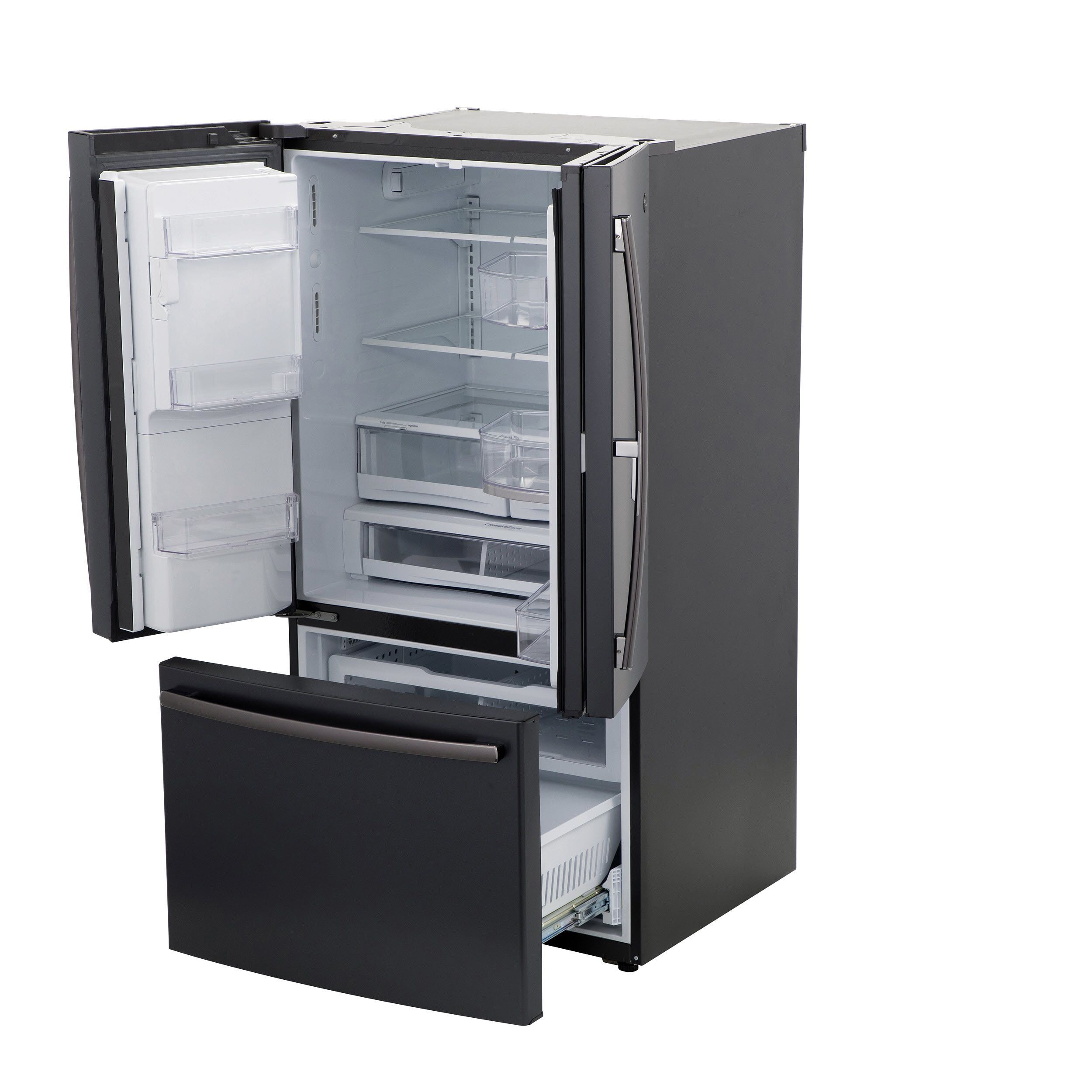 Model: GFD28GELDS | GE GE® 27.8 Cu. Ft. French-Door Refrigerator with Door In Door
