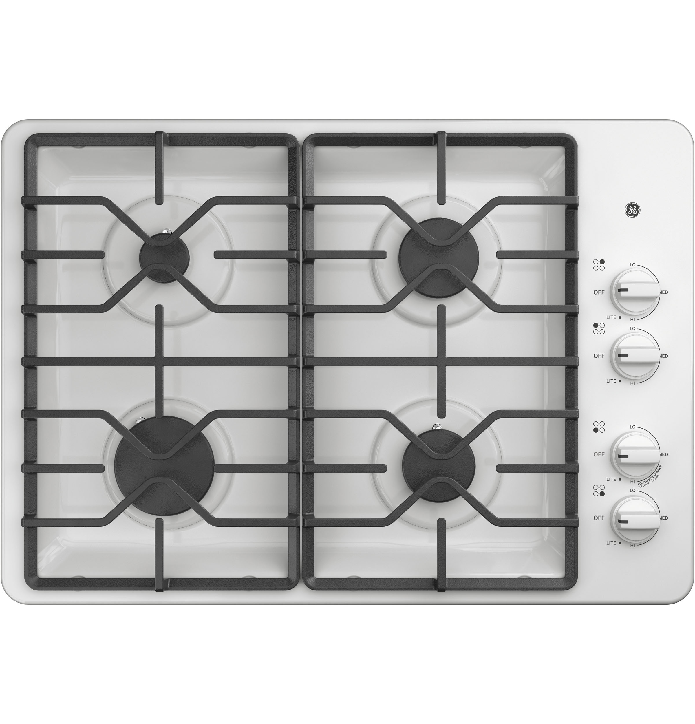 "GE GE® 30"" Built-In Gas Cooktop with Dishwasher-Safe Grates"