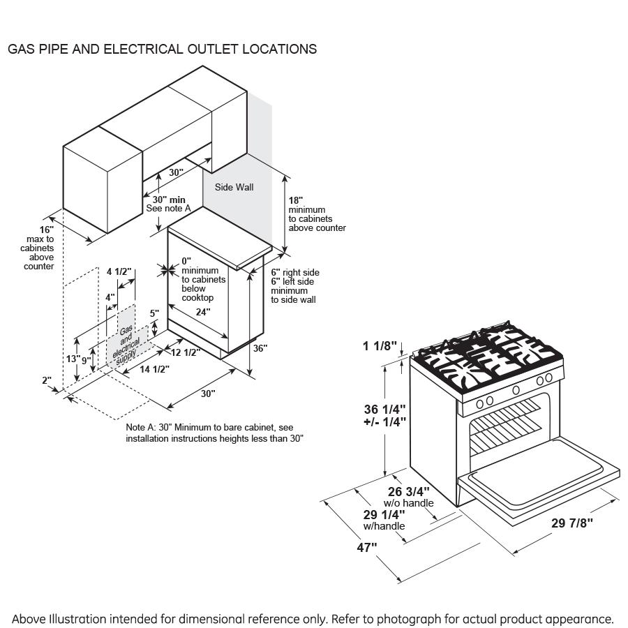 "Model: JGSS66FELDS | GE GE® 30"" Slide-In Front Control Gas Range"