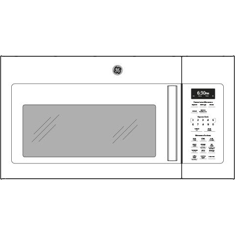 Model: JVM6172DKWW   GE GE® 1.7 Cu. Ft. Over-the-Range Microwave Oven