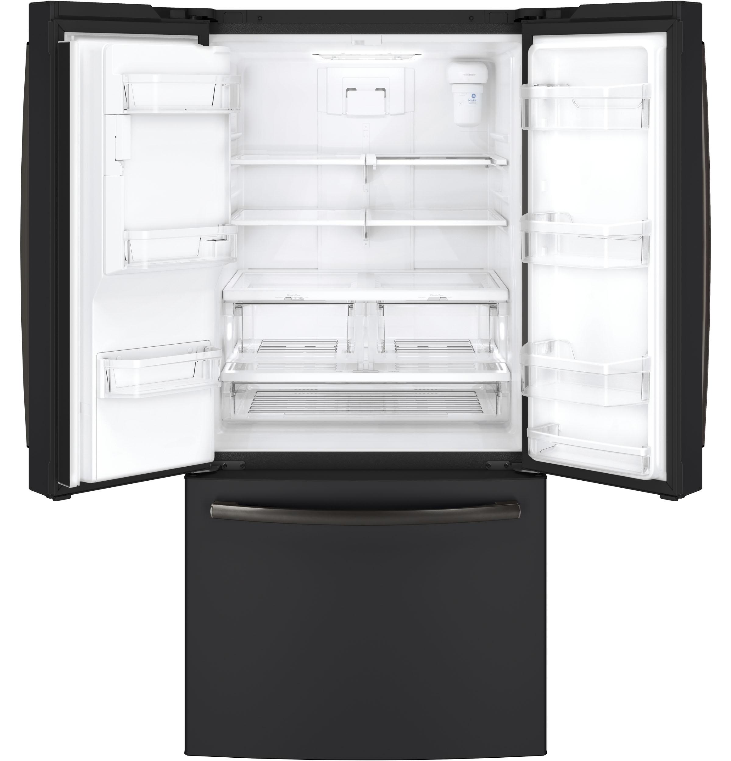 Model: GYE18JEMDS | GE® ENERGY STAR® 17.5 Cu. Ft. Counter-Depth French-Door Refrigerator