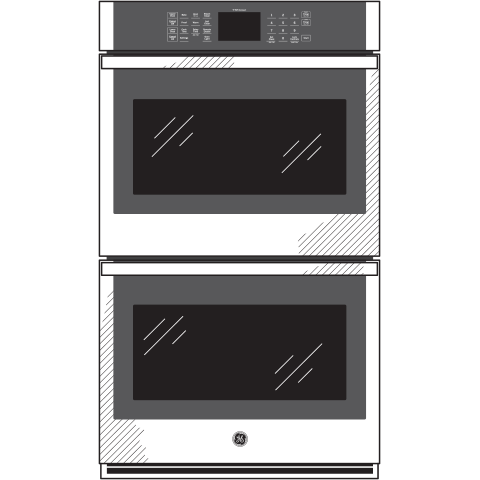 "Model: JKD3000SNSS | GE GE® 27"" Smart Built-In Double Wall Oven"