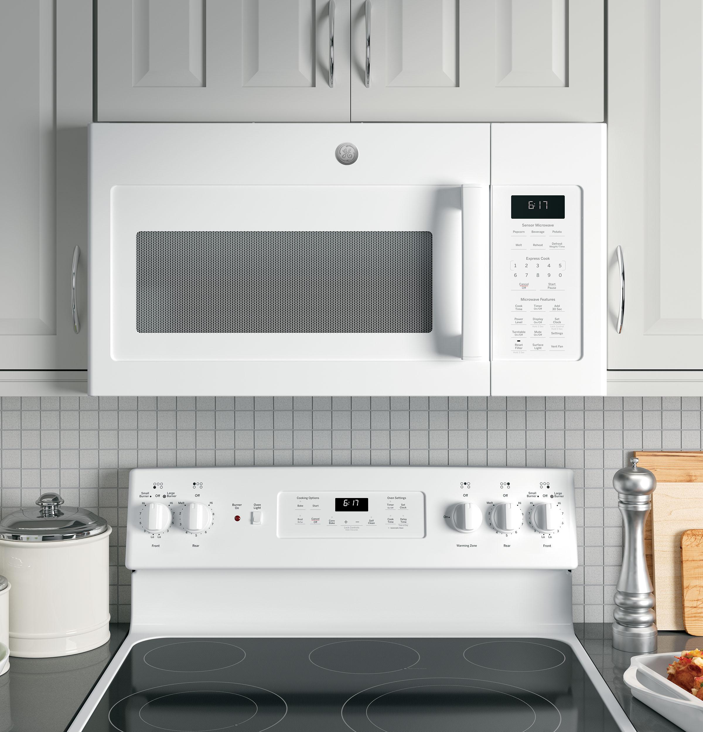 Model: JVM6175DKWW   GE GE® 1.7 Cu. Ft. Over-the-Range Sensor Microwave Oven