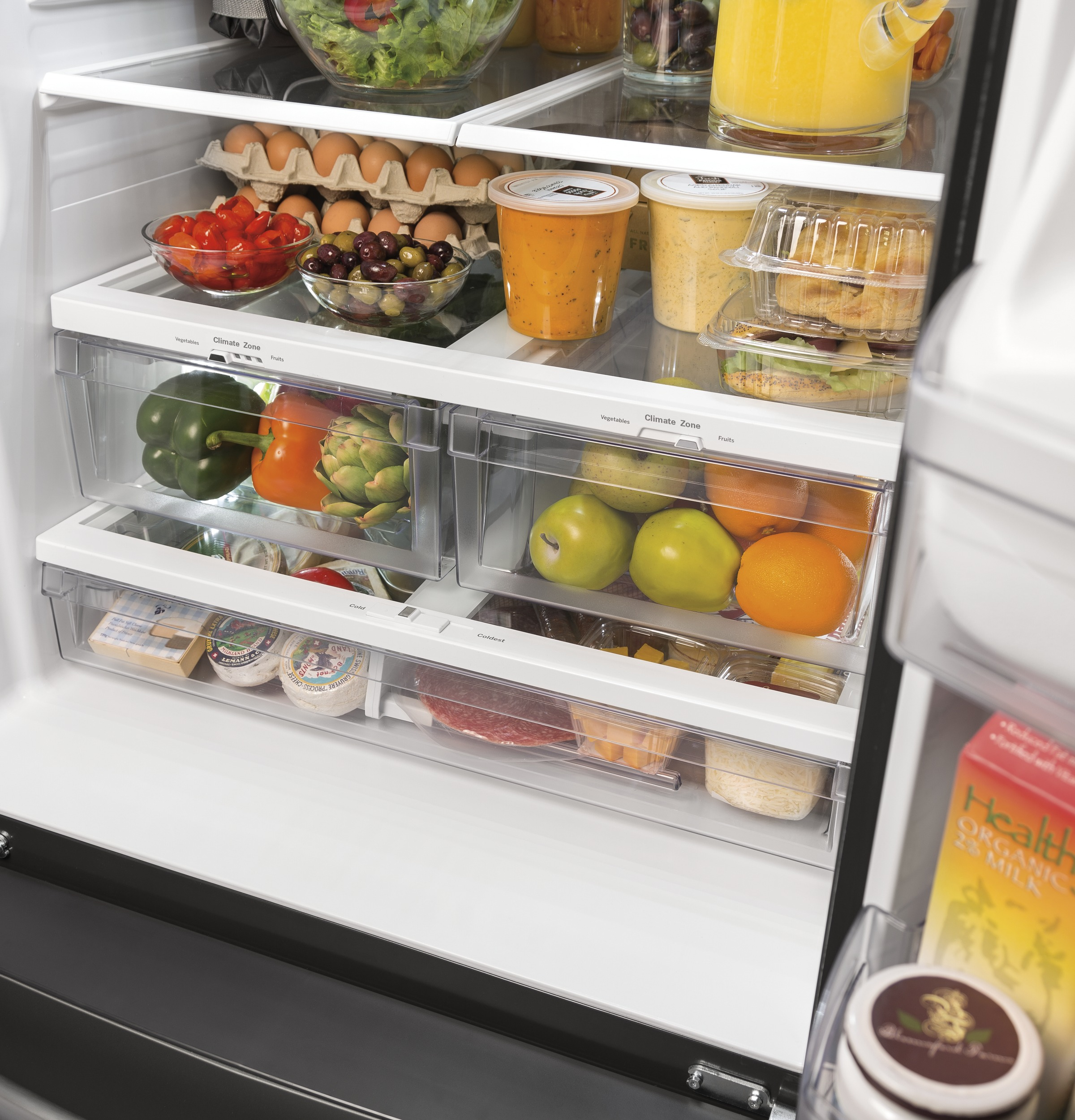 Model: GNE21FSKSS | GE GE® ENERGY STAR® 20.8 Cu. Ft. French-Door Refrigerator
