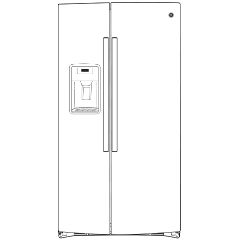 Model: GSS25IYNFS | GE GE® 25.1 Cu. Ft. Fingerprint Resistant Side-By-Side Refrigerator