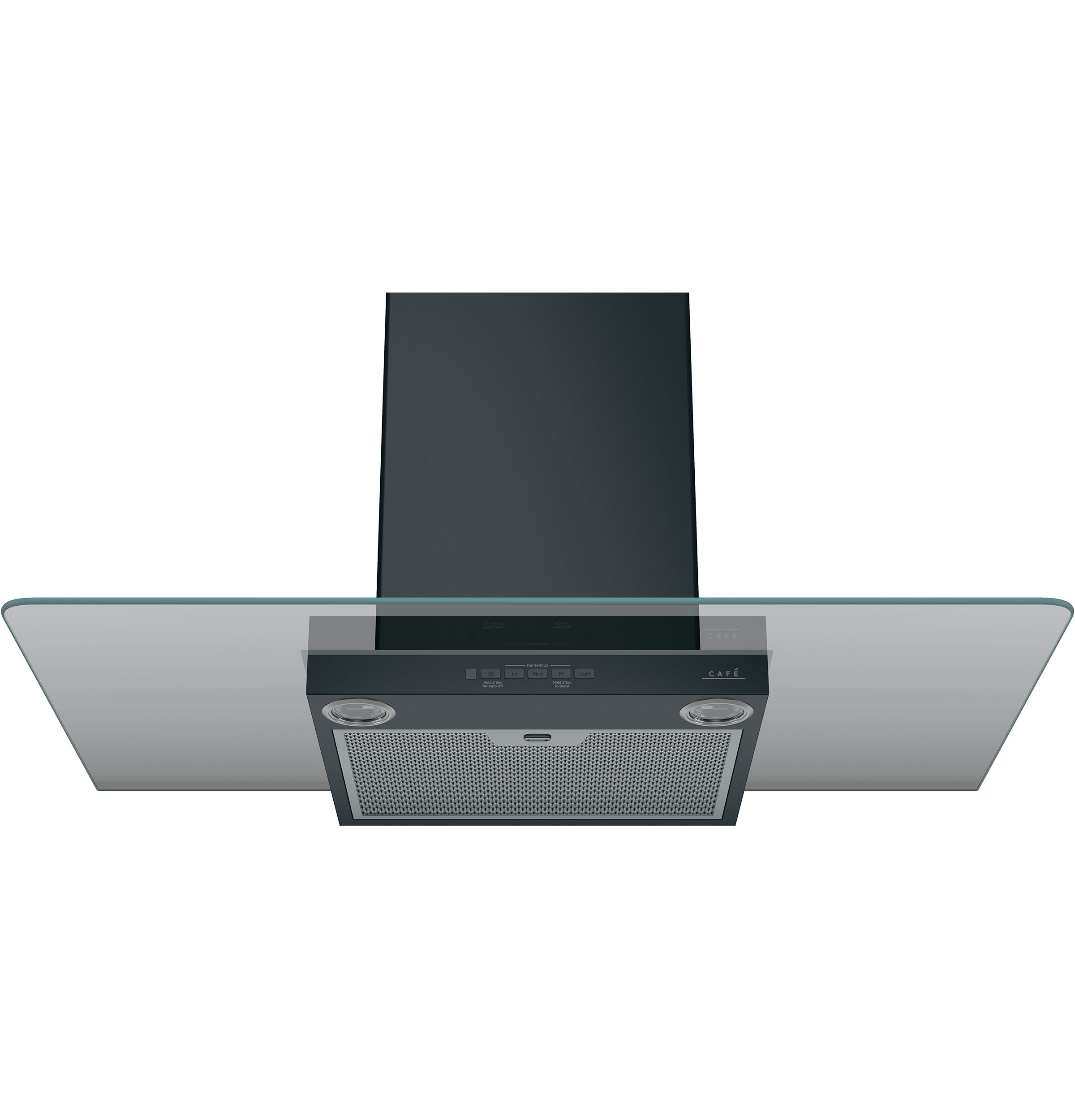 "Model: CVW73613MDS | Cafe Café™ 36"" Wall-Mount Glass Canopy Chimney Hood"
