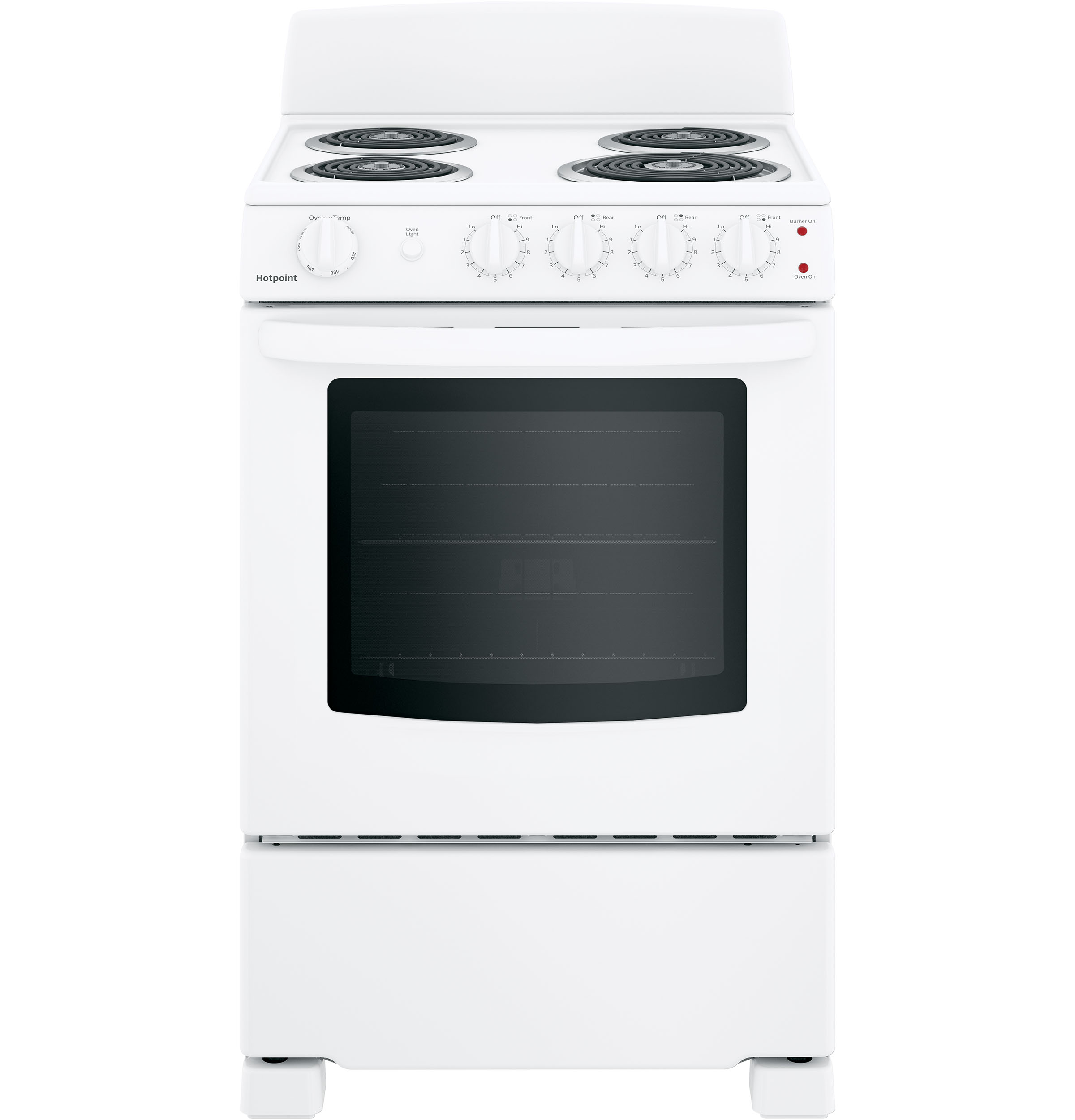 "Hotpoint Hotpoint® 24"" Electric Free-Standing Front-Control Range"