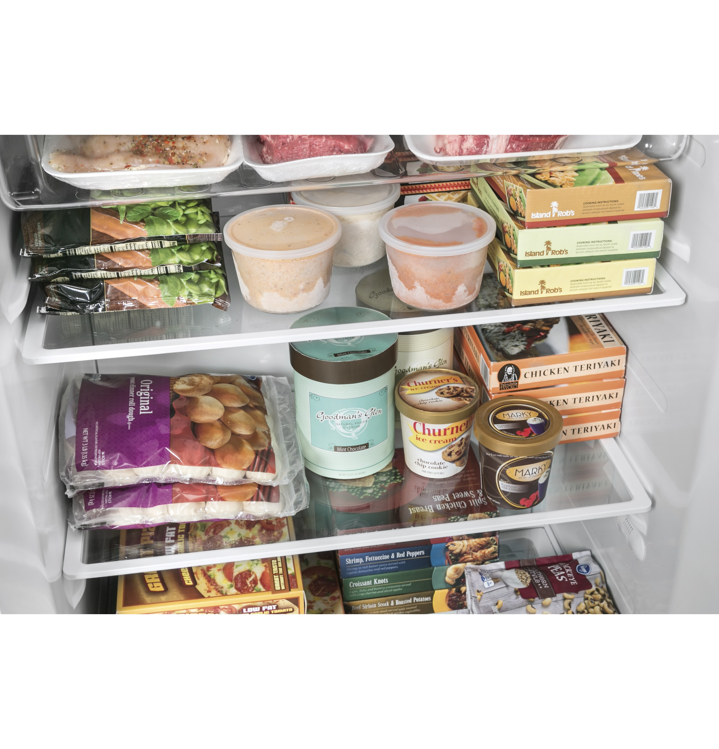 Model: FUF17DLRWW | GE GE® 17.3 Cu. Ft. Frost-Free Upright Freezer