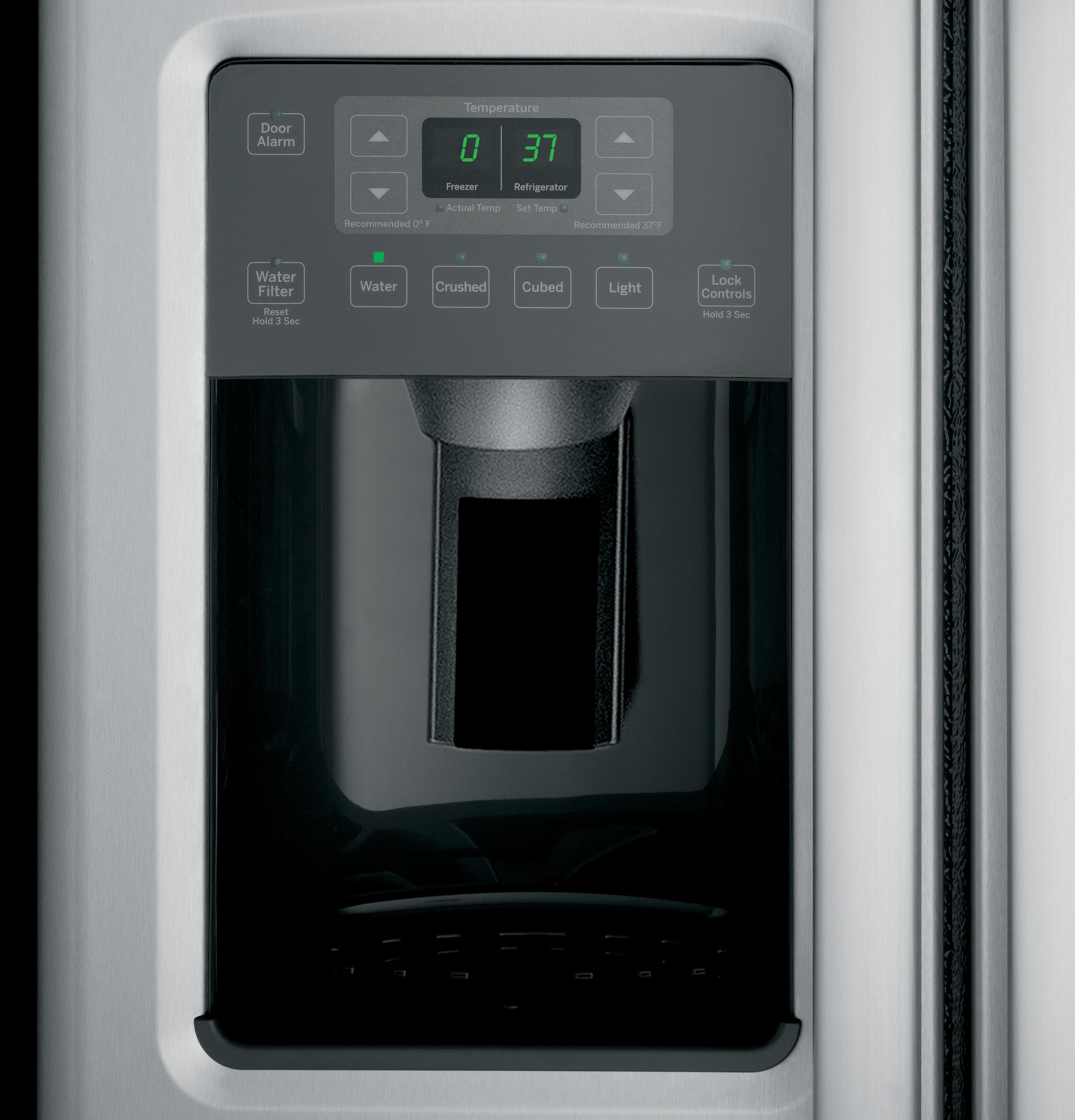 Model: GSE25GSHSS | GE GE® ENERGY STAR® 25.3 Cu. Ft. Side-By-Side Refrigerator