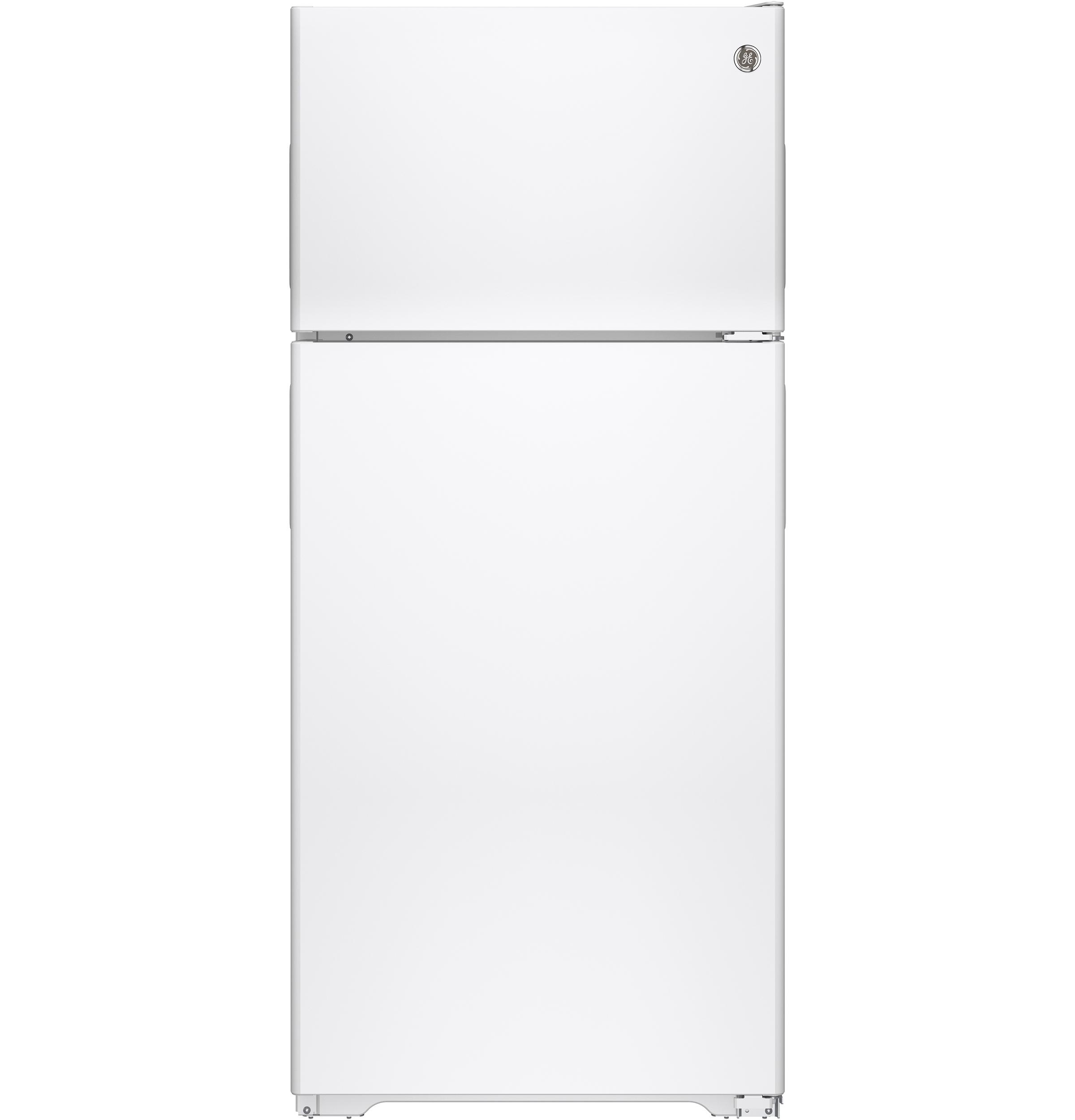 GE GE® ENERGY STAR® 15.5 Cu. Ft. Recessed Handle Top-Freezer Refrigerator
