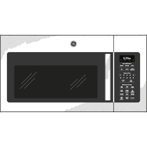 Model: JVM6175BLTS | GE GE® 1.7 Cu. Ft. Over-the-Range Sensor Microwave Oven