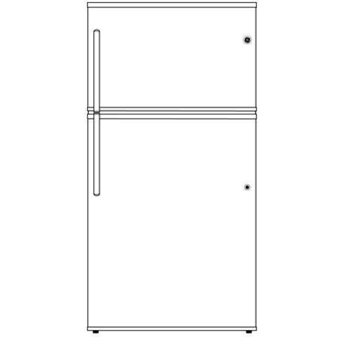 Model: GTE21GTHWW | GE GE® ENERGY STAR® 21.1 Cu. Ft. Top-Freezer Refrigerator