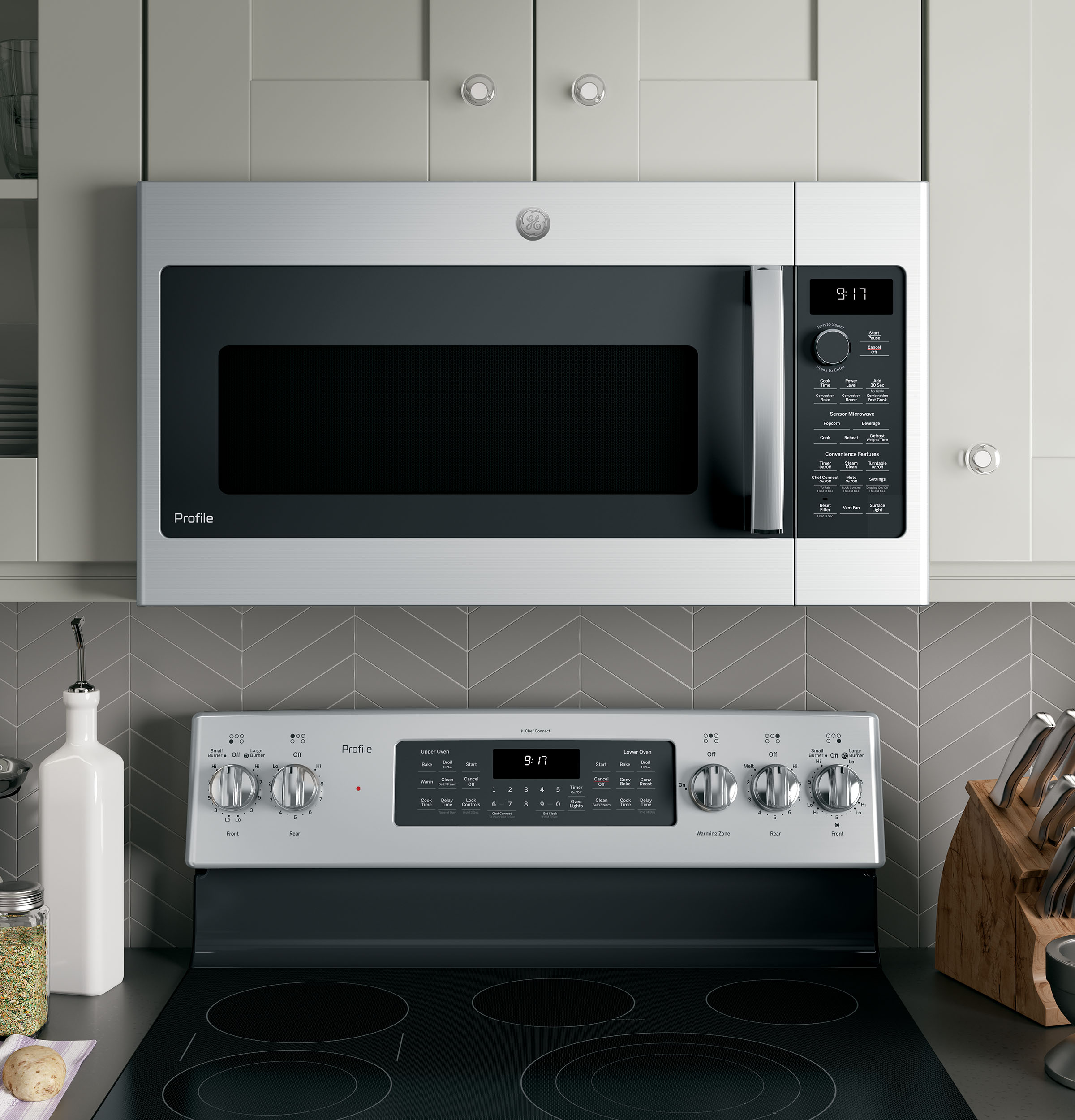Model: PVM9179SKSS | GE Profile™ Series 1.7 Cu. Ft. Convection Over-the-Range Microwave Oven