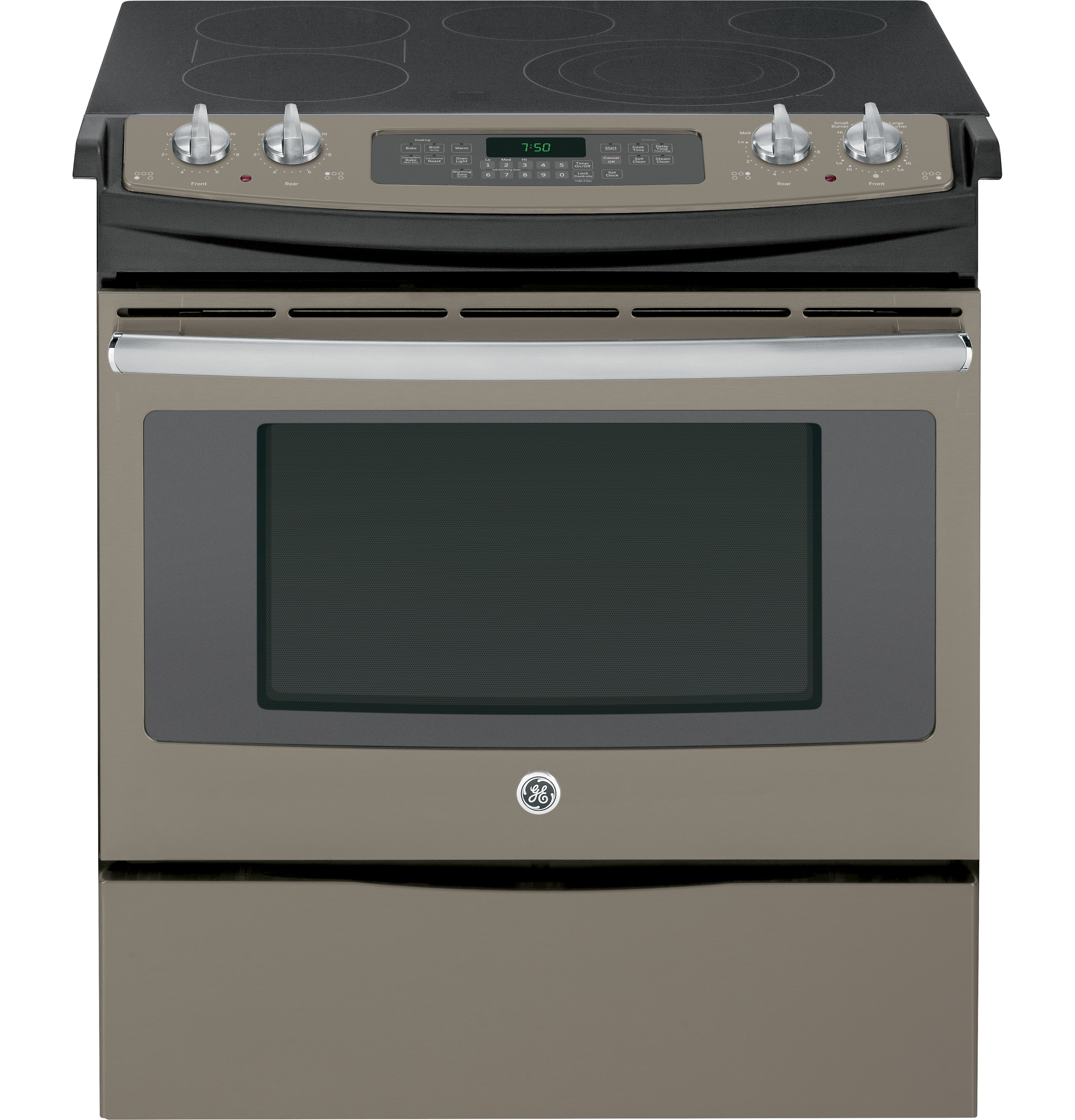 """GE GE® 30"""" Slide-In Front Control Electric Convection Range"""