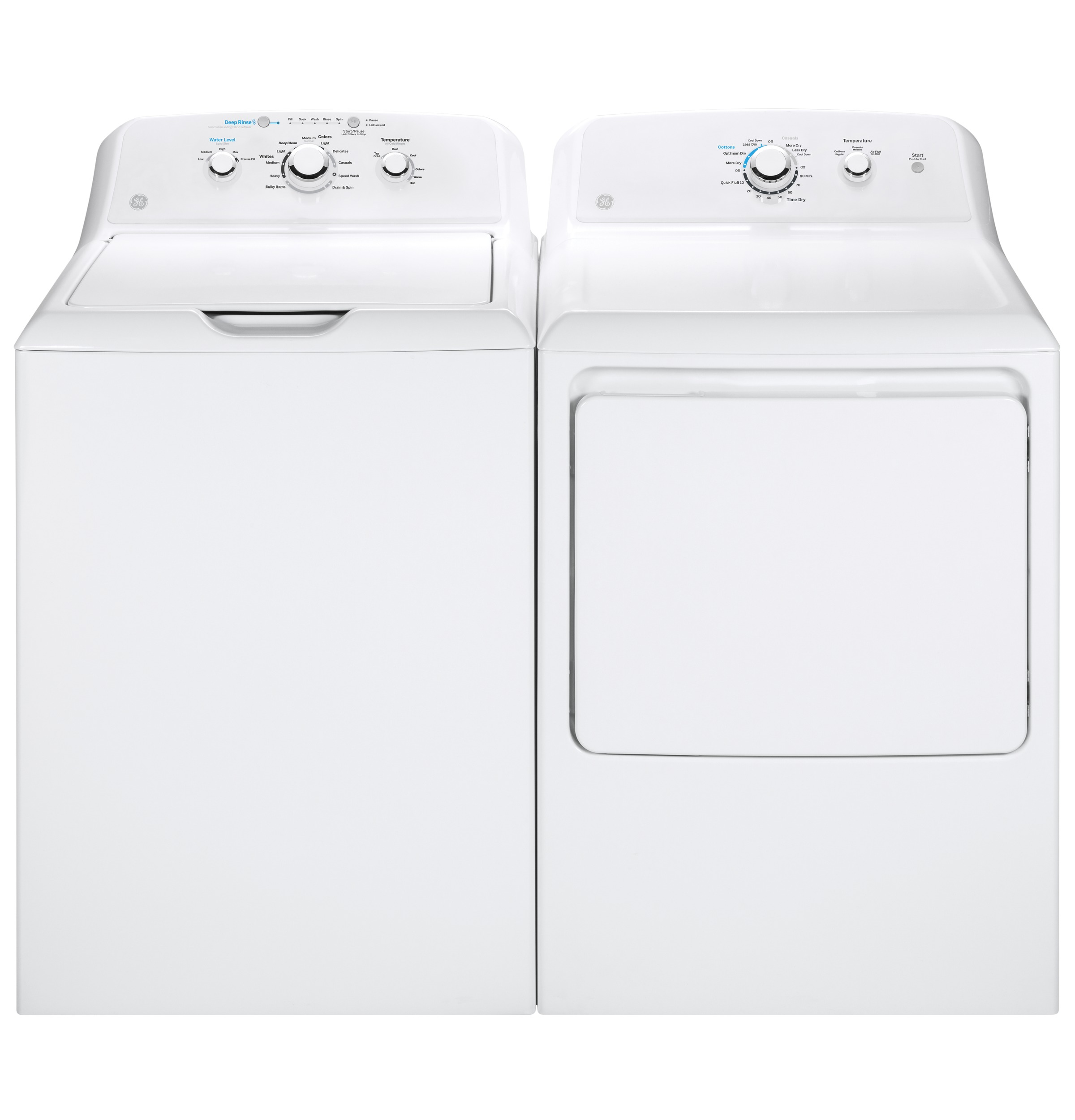 Model: GTD33EASKWW | GE GE® 7.2 cu. ft. Capacity aluminized alloy drum Electric Dryer